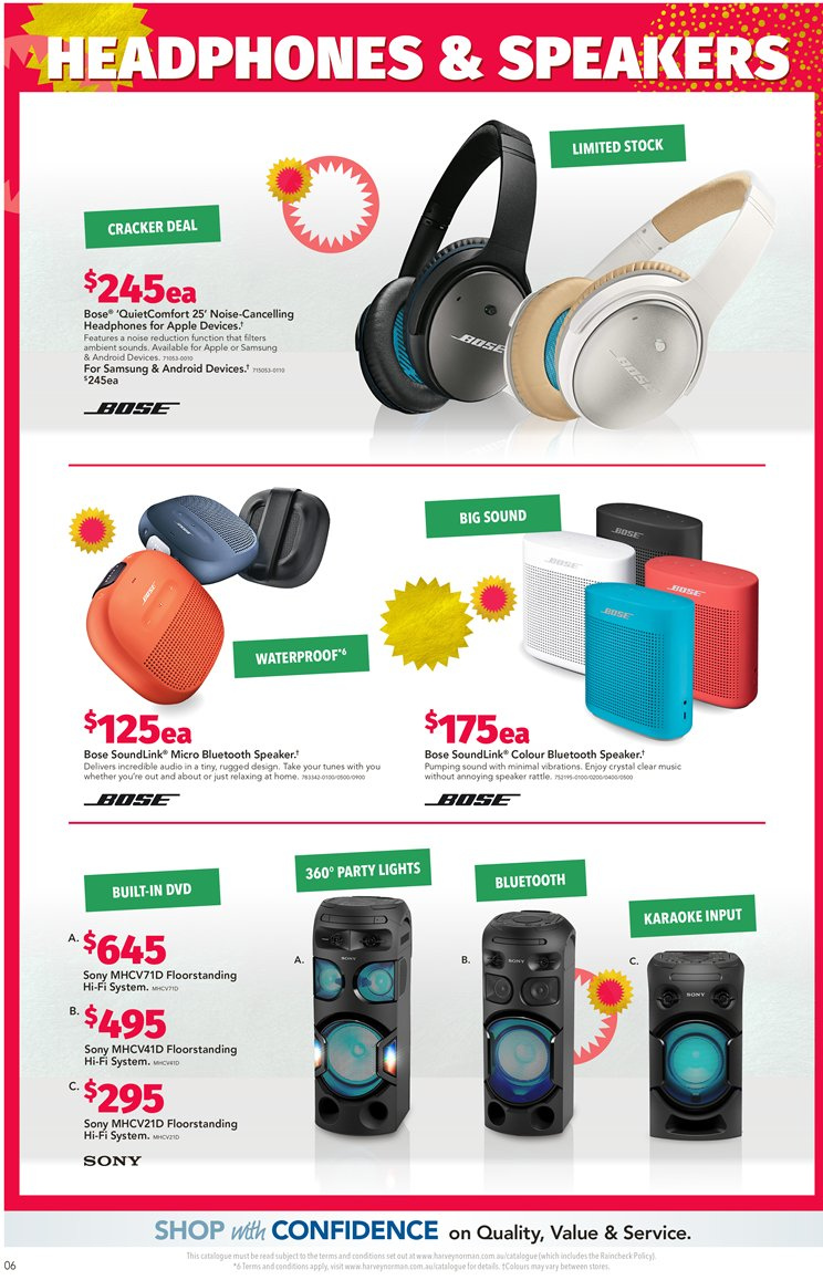 Harvey Norman catalogue  - 7.12.2018 - 24.12.2018. Page 6.