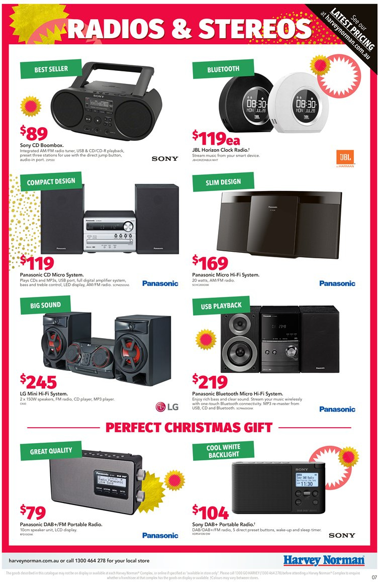 Harvey Norman catalogue  - 7.12.2018 - 24.12.2018. Page 7.