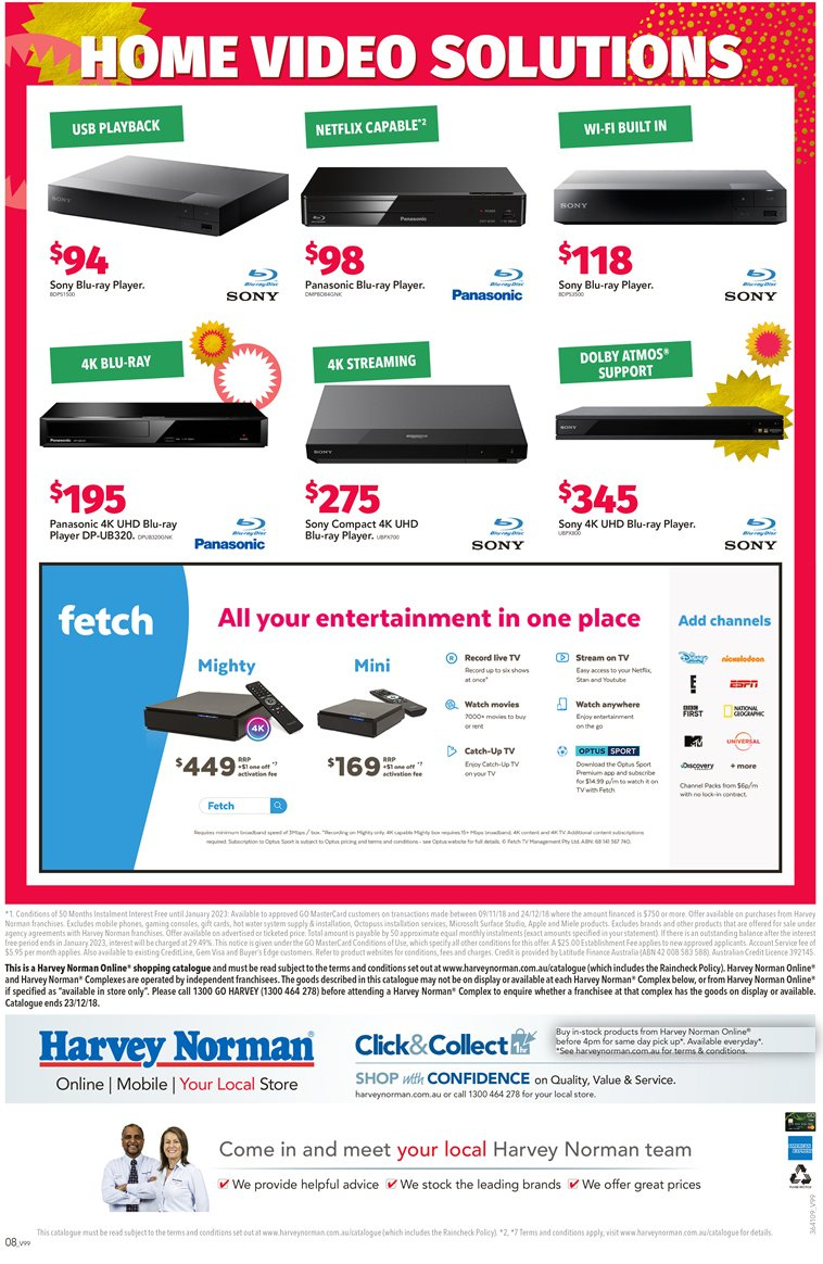 Harvey Norman catalogue  - 7.12.2018 - 24.12.2018. Page 8.