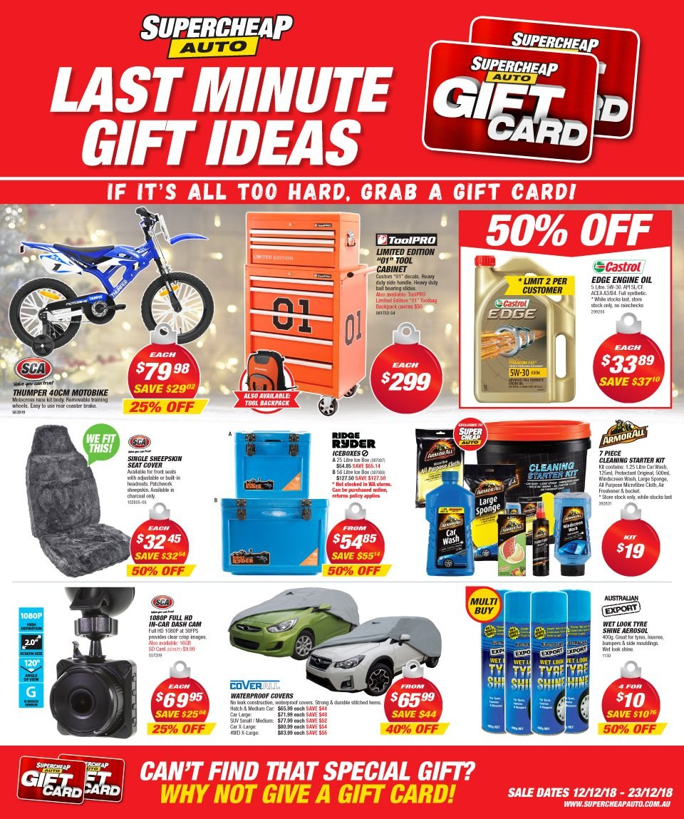 Supercheap Auto catalogue  - 12.12.2018 - 23.12.2018. Page 1.