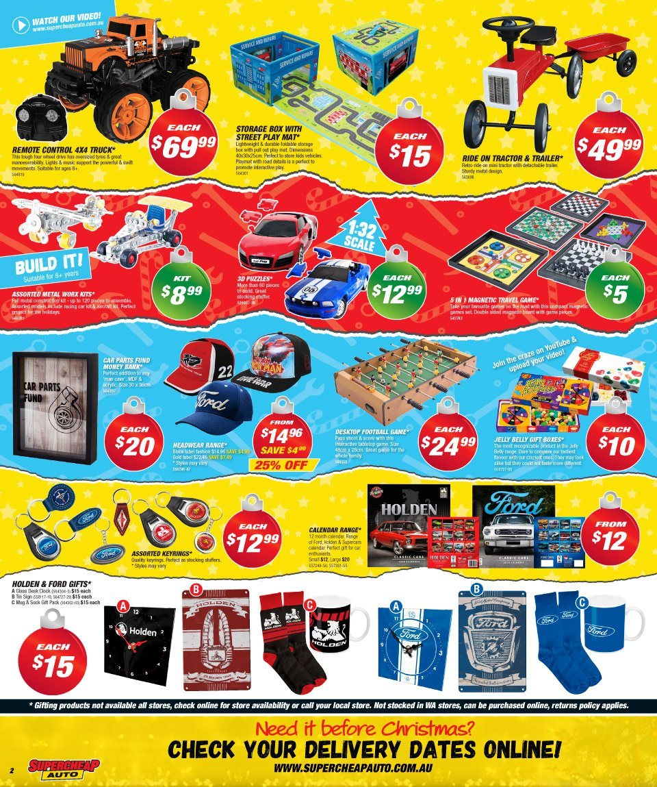 Supercheap Auto catalogue  - 12.12.2018 - 23.12.2018. Page 2.