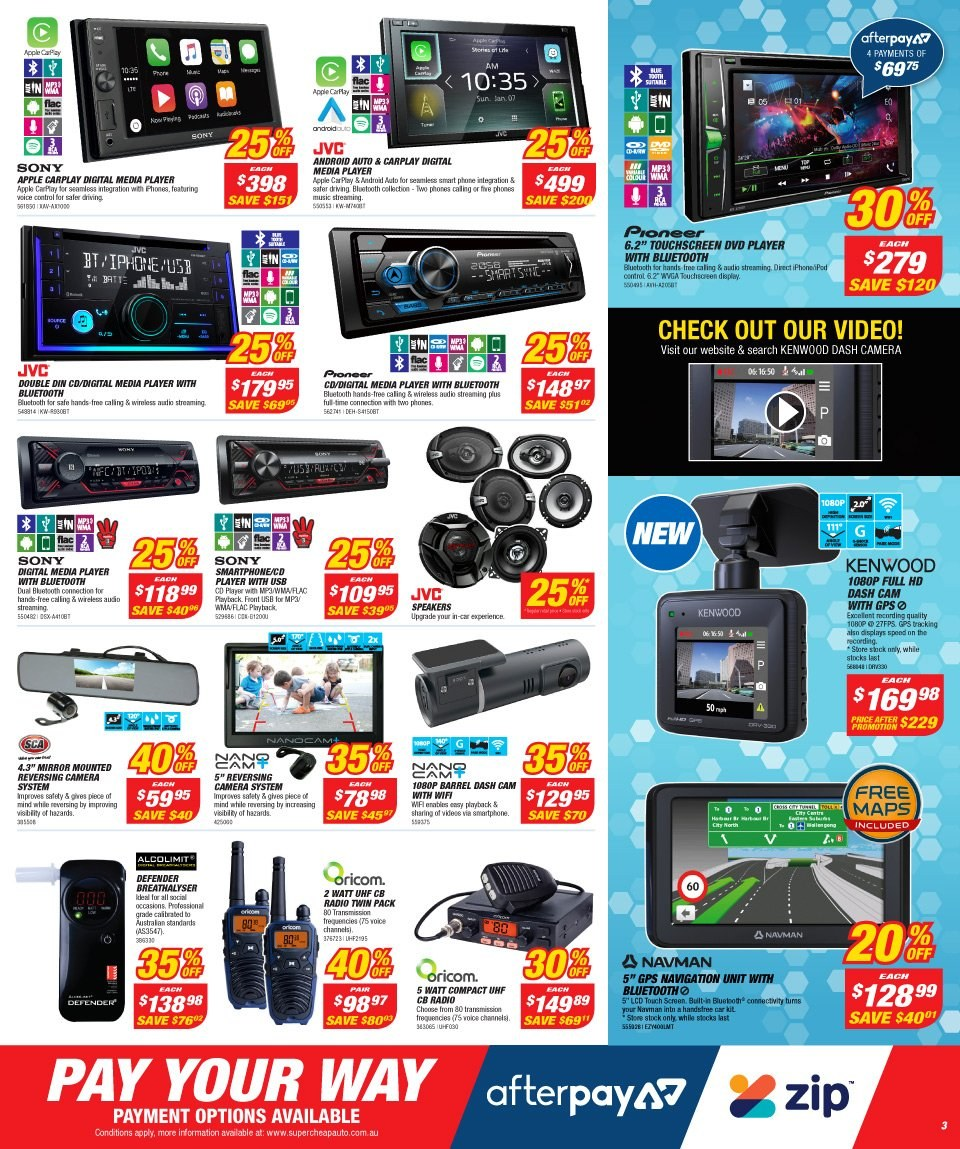 Supercheap Auto catalogue  - 12.12.2018 - 23.12.2018. Page 3.