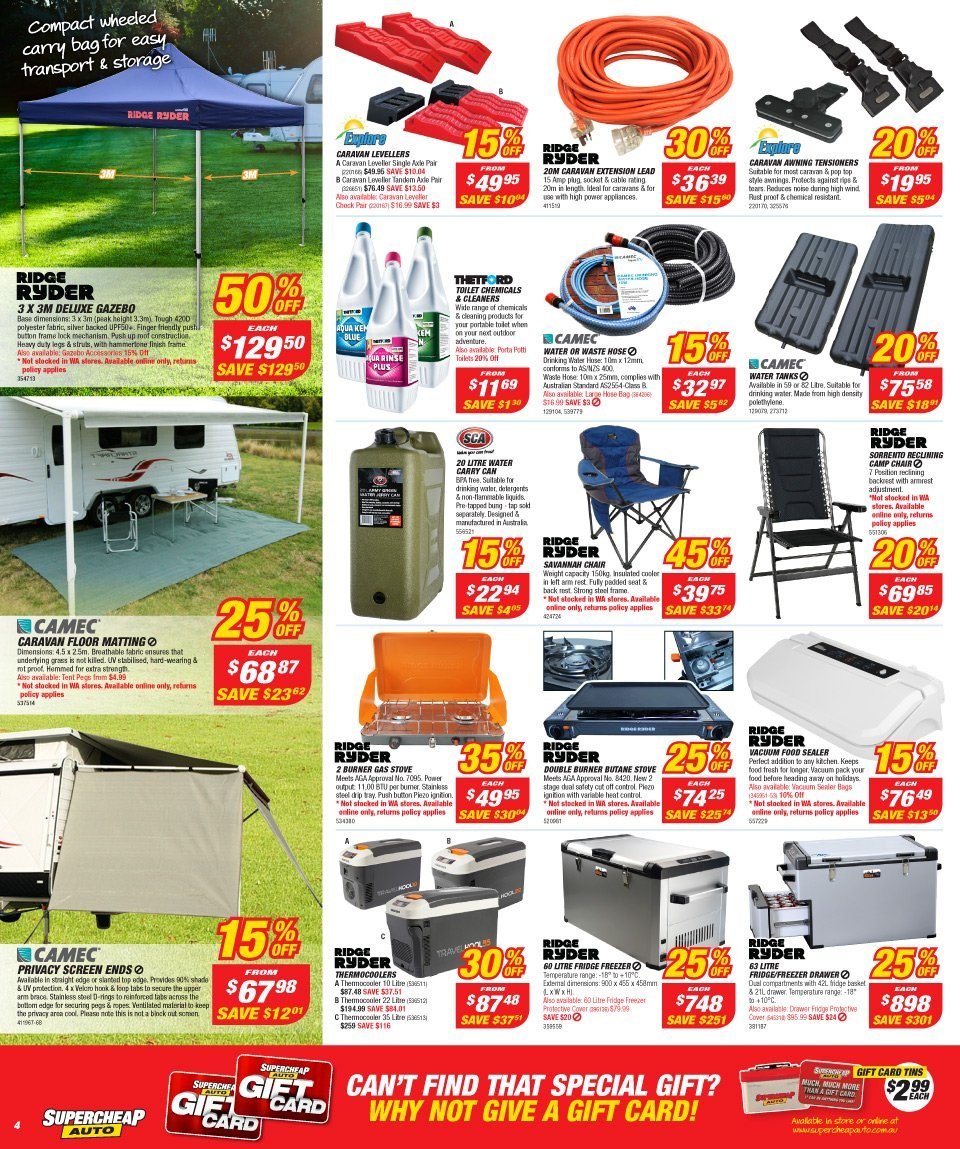 Supercheap Auto catalogue  - 12.12.2018 - 23.12.2018. Page 4.