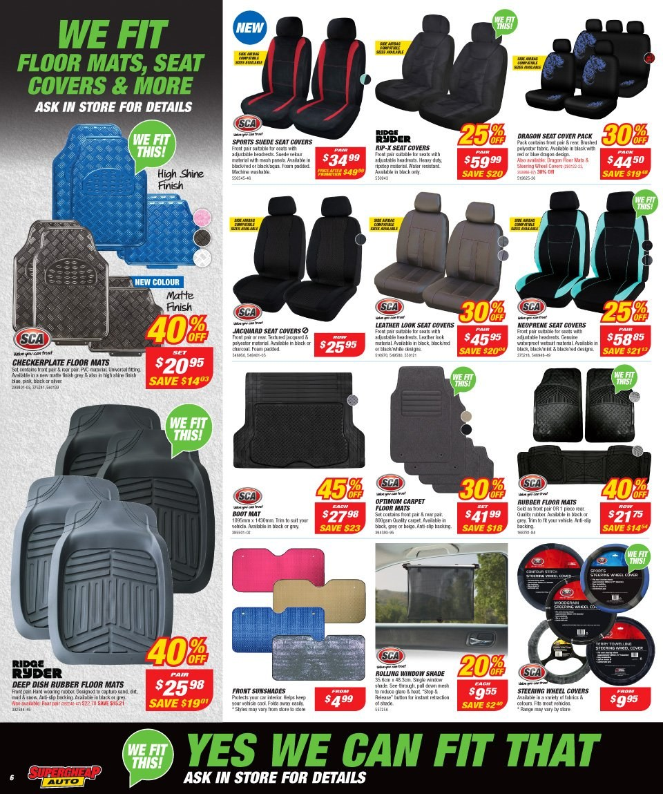 Supercheap Auto catalogue  - 12.12.2018 - 23.12.2018. Page 6.