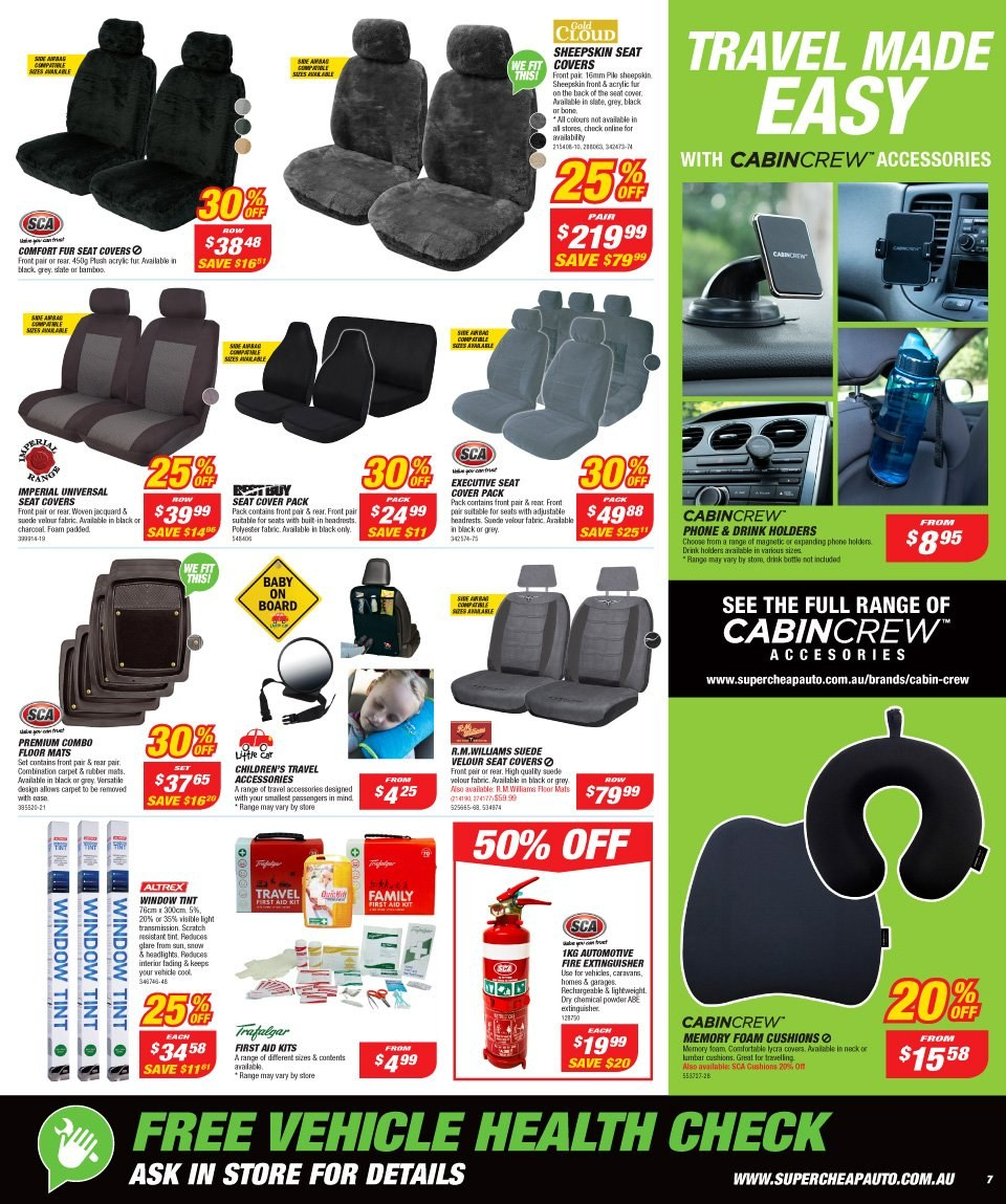 Supercheap Auto catalogue  - 12.12.2018 - 23.12.2018. Page 7.