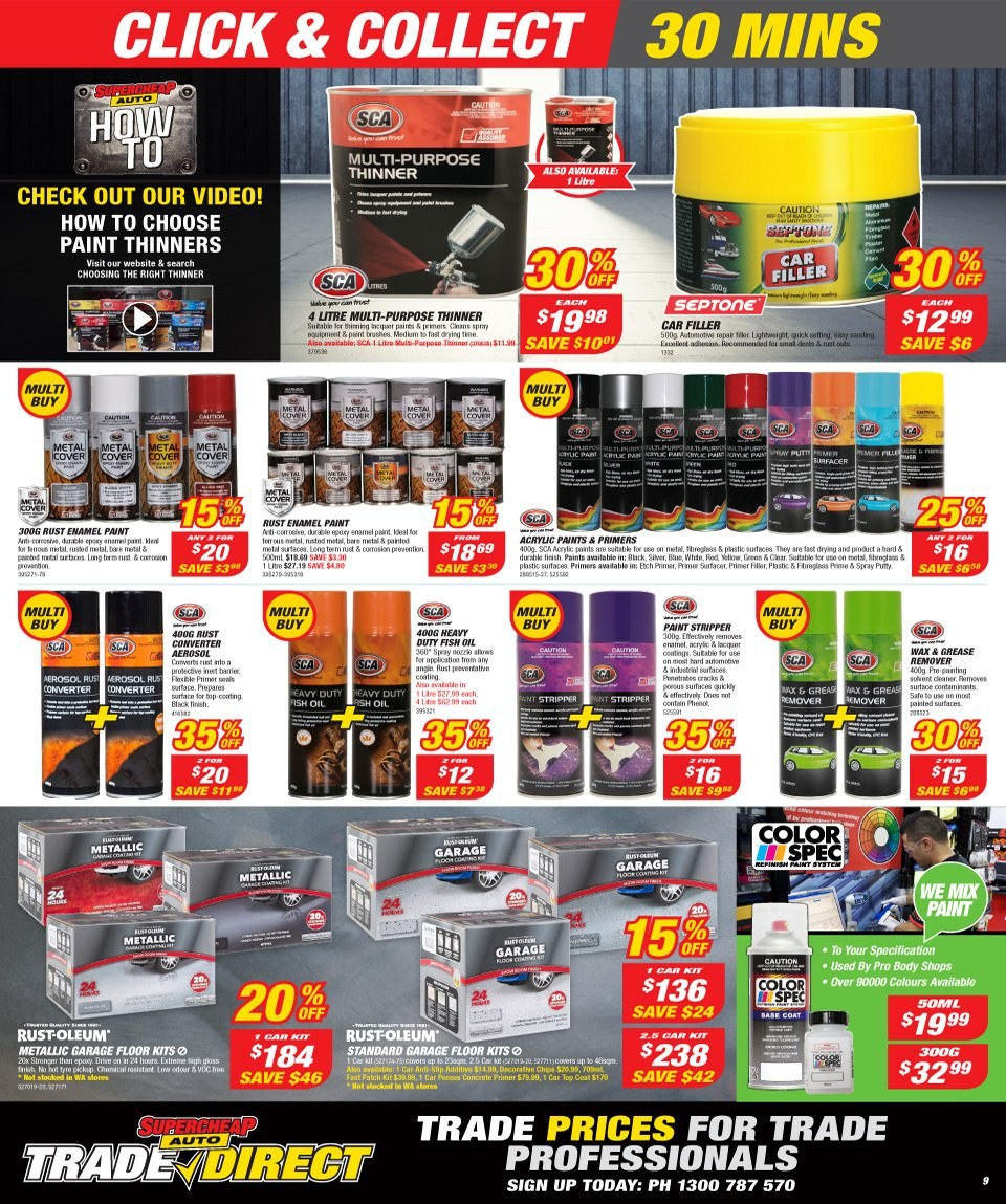 Supercheap Auto catalogue  - 12.12.2018 - 23.12.2018. Page 9.