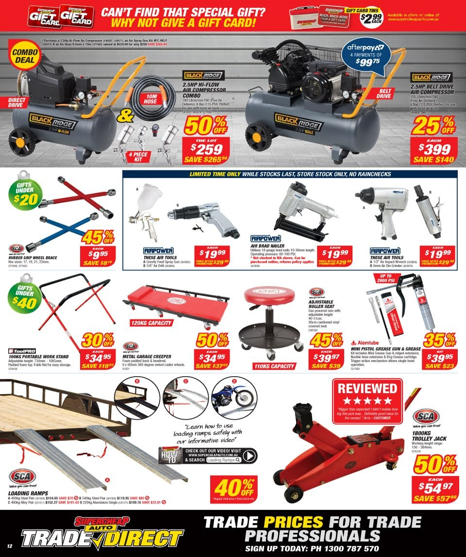 Supercheap Auto catalogue  - 12.12.2018 - 23.12.2018. Page 12.