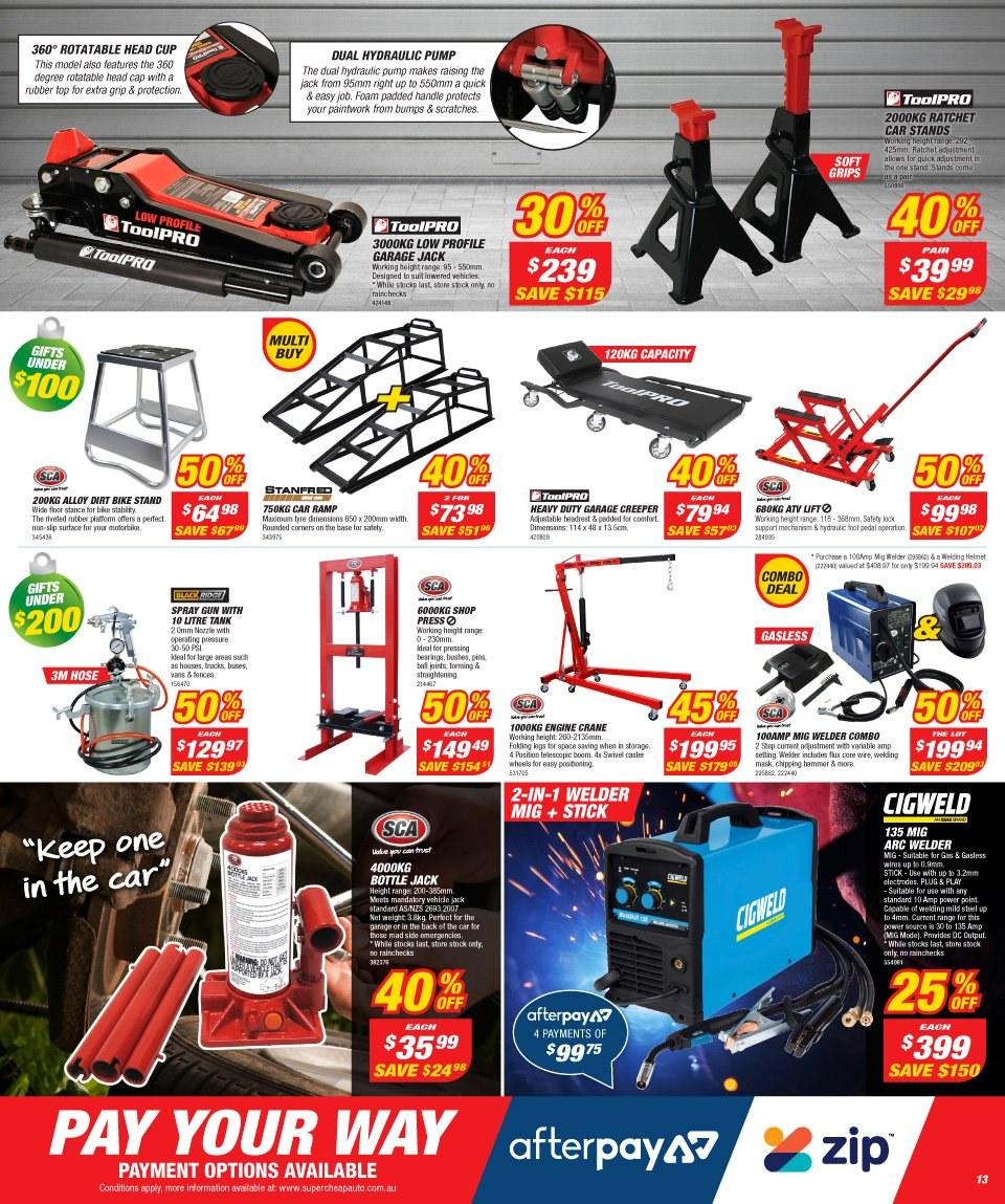 Supercheap Auto catalogue  - 12.12.2018 - 23.12.2018. Page 13.