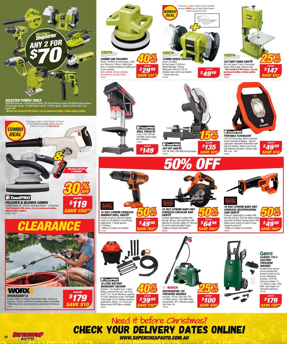 Supercheap Auto catalogue  - 12.12.2018 - 23.12.2018. Page 14.
