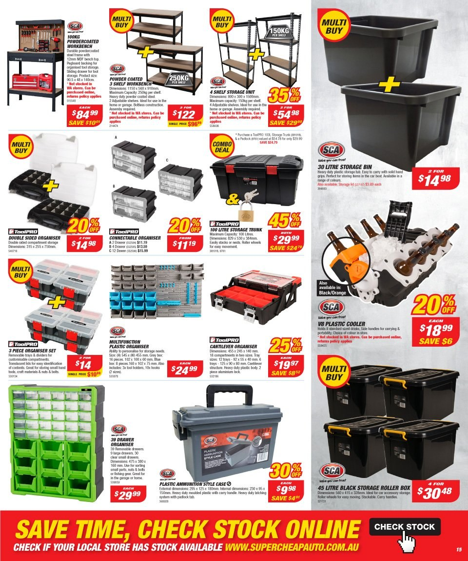 Supercheap Auto catalogue  - 12.12.2018 - 23.12.2018. Page 15.