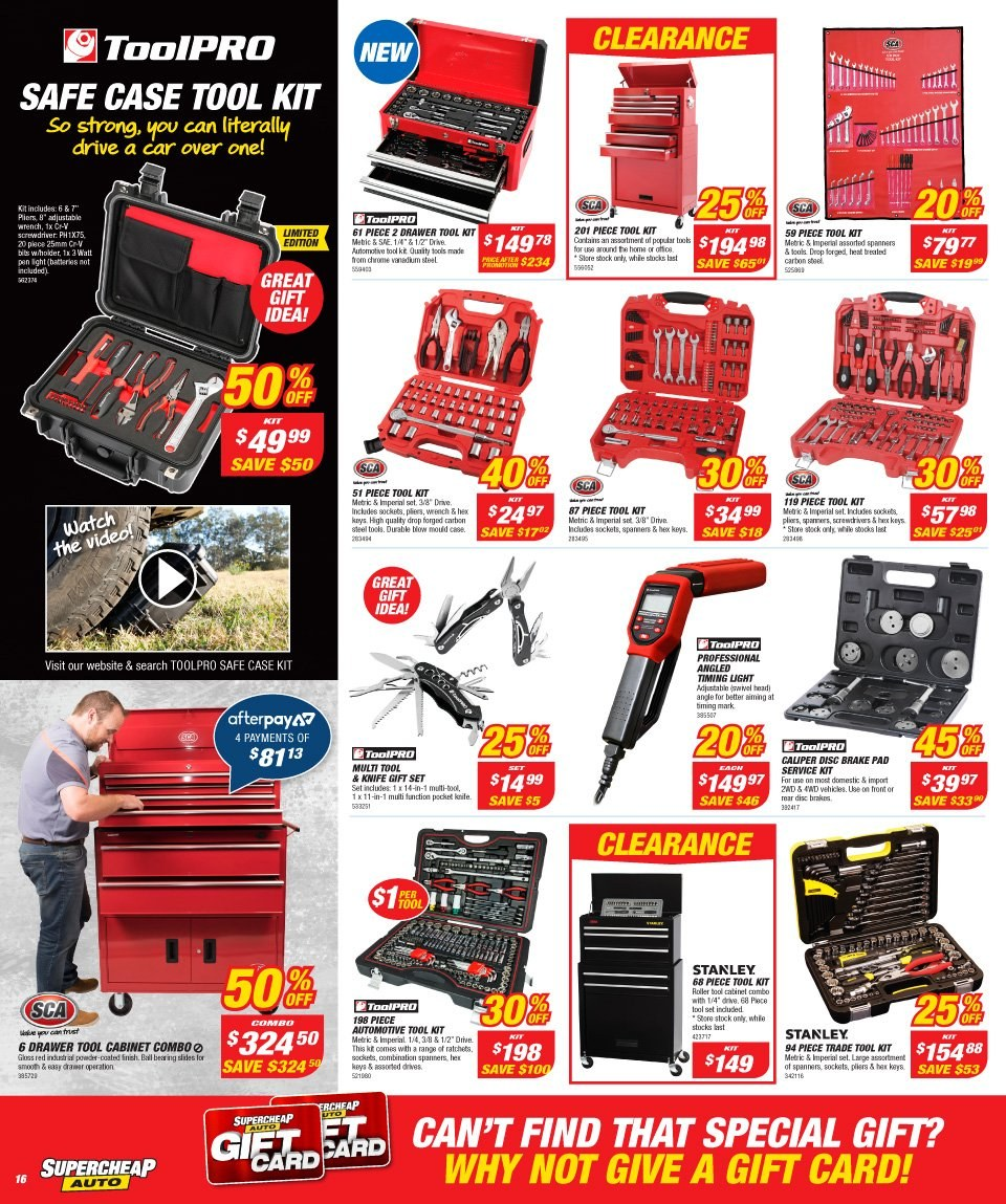Supercheap Auto catalogue  - 12.12.2018 - 23.12.2018. Page 16.