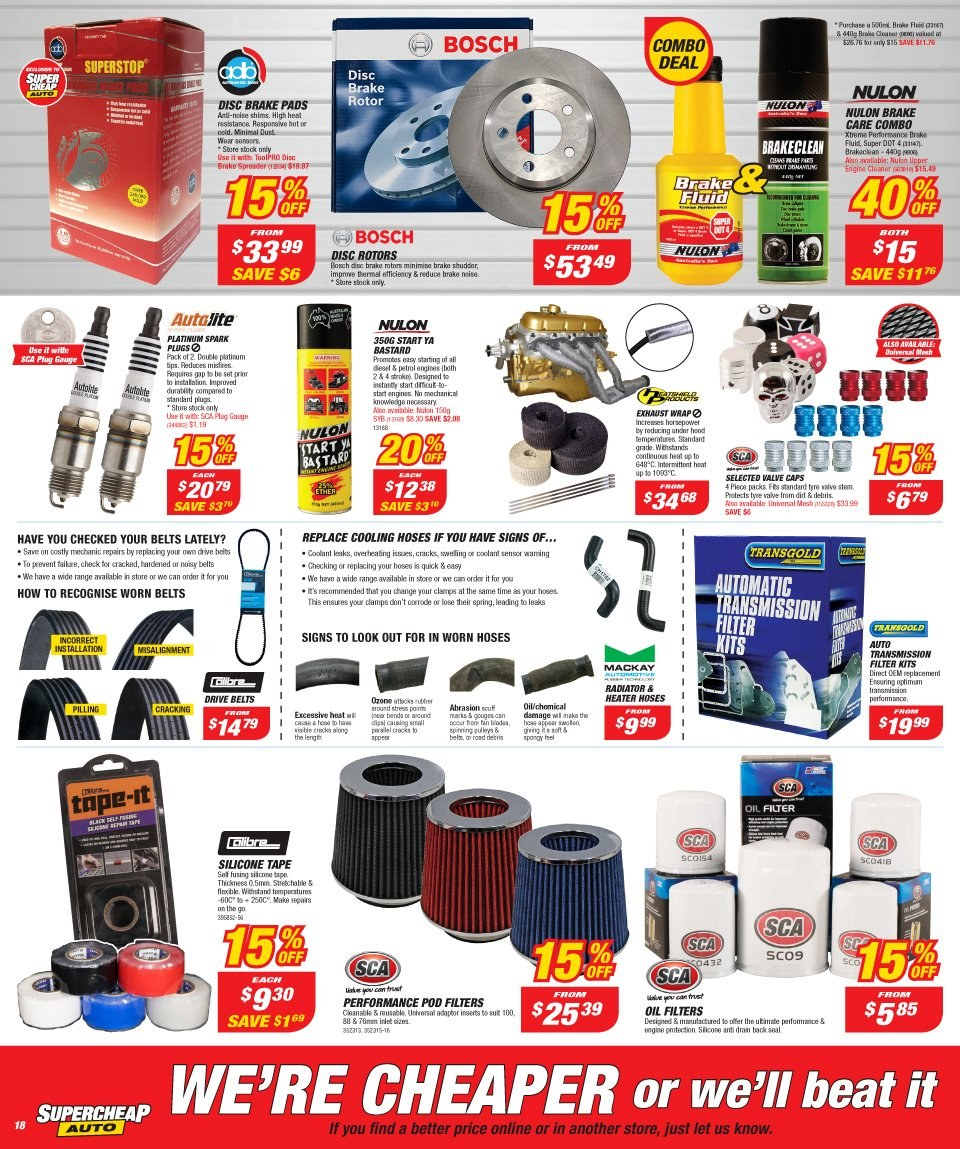 Supercheap Auto catalogue  - 12.12.2018 - 23.12.2018. Page 18.