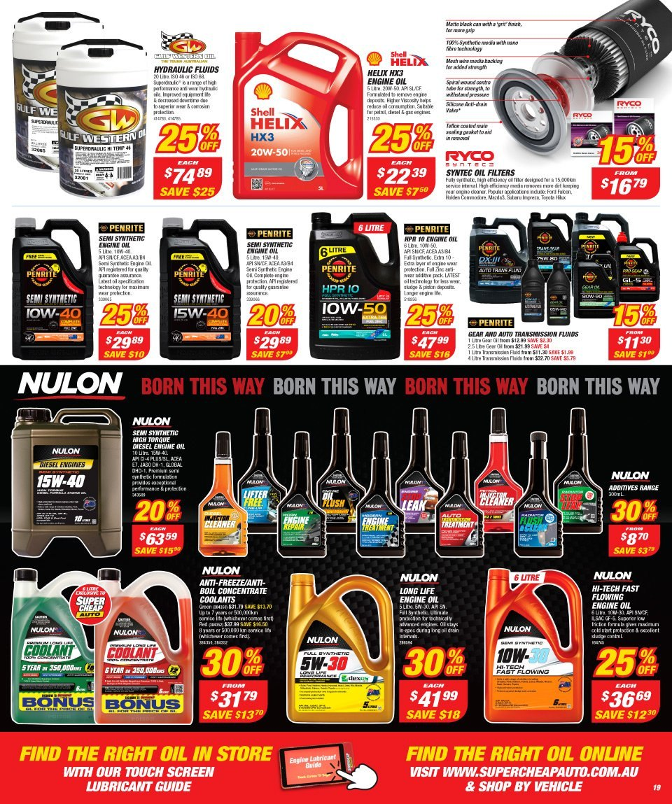 Supercheap Auto catalogue  - 12.12.2018 - 23.12.2018. Page 19.