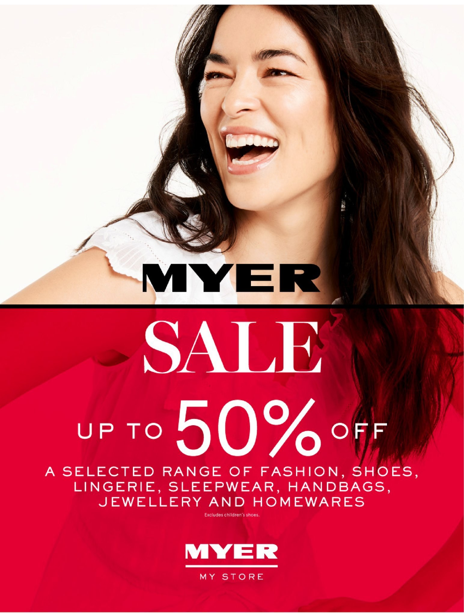 Myer catalogue  - 26.12.2018 - 28.1.2019. Page 1.