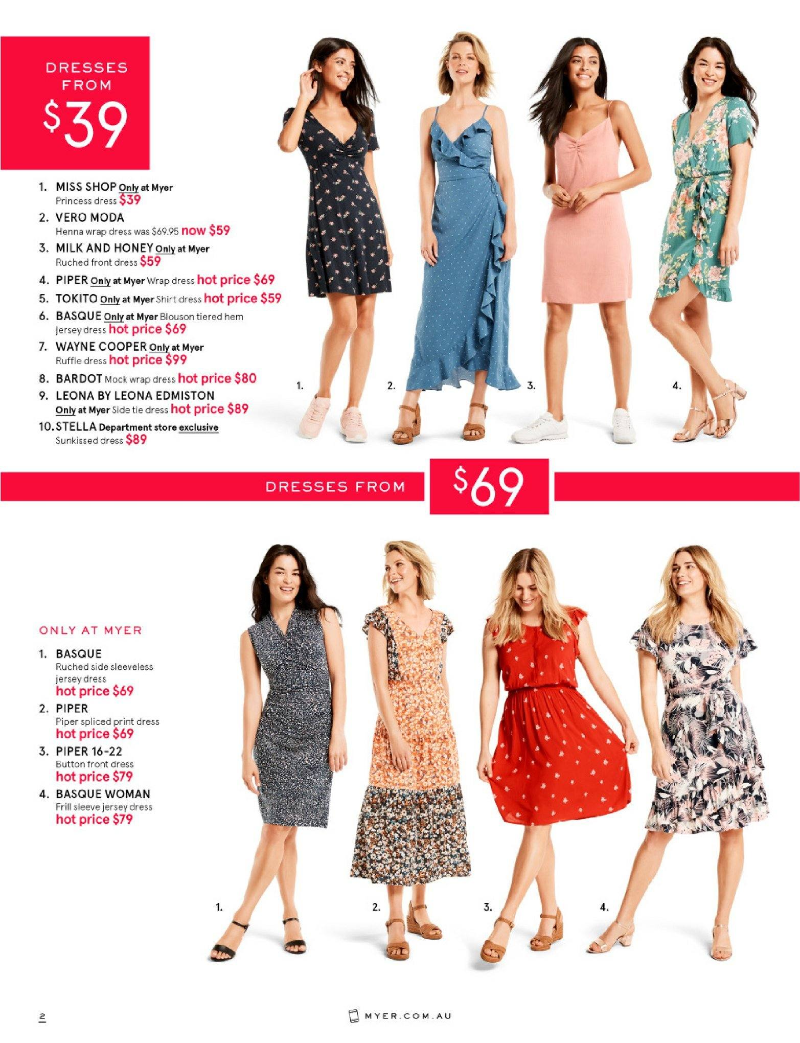 Myer catalogue  - 26.12.2018 - 28.1.2019. Page 2.