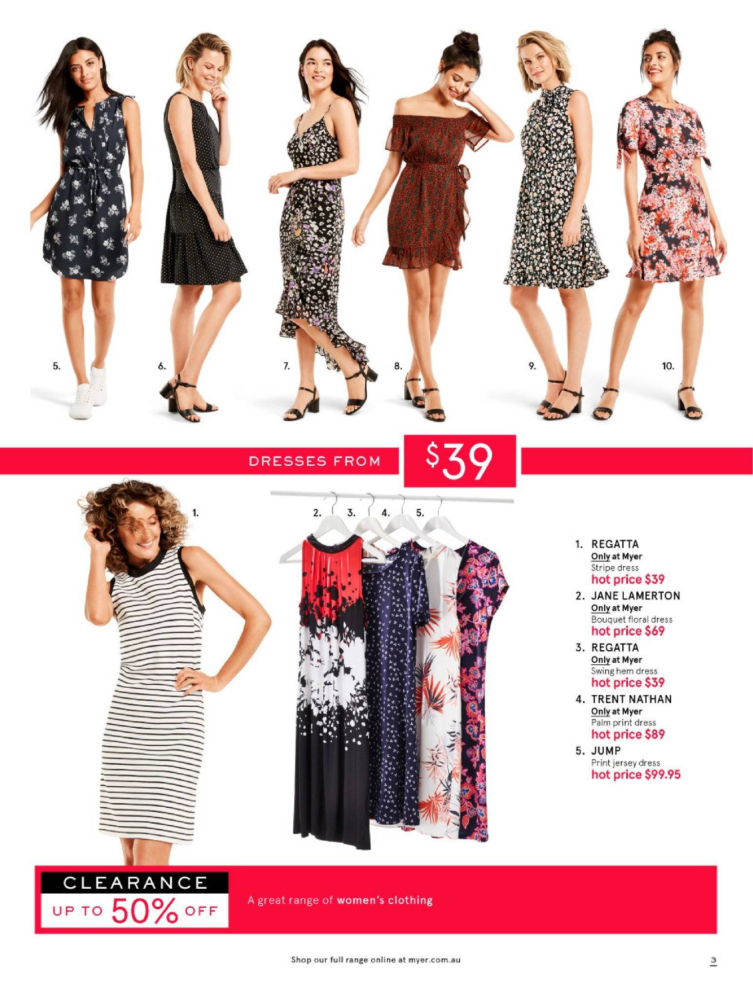 Myer catalogue  - 26.12.2018 - 28.1.2019. Page 3.