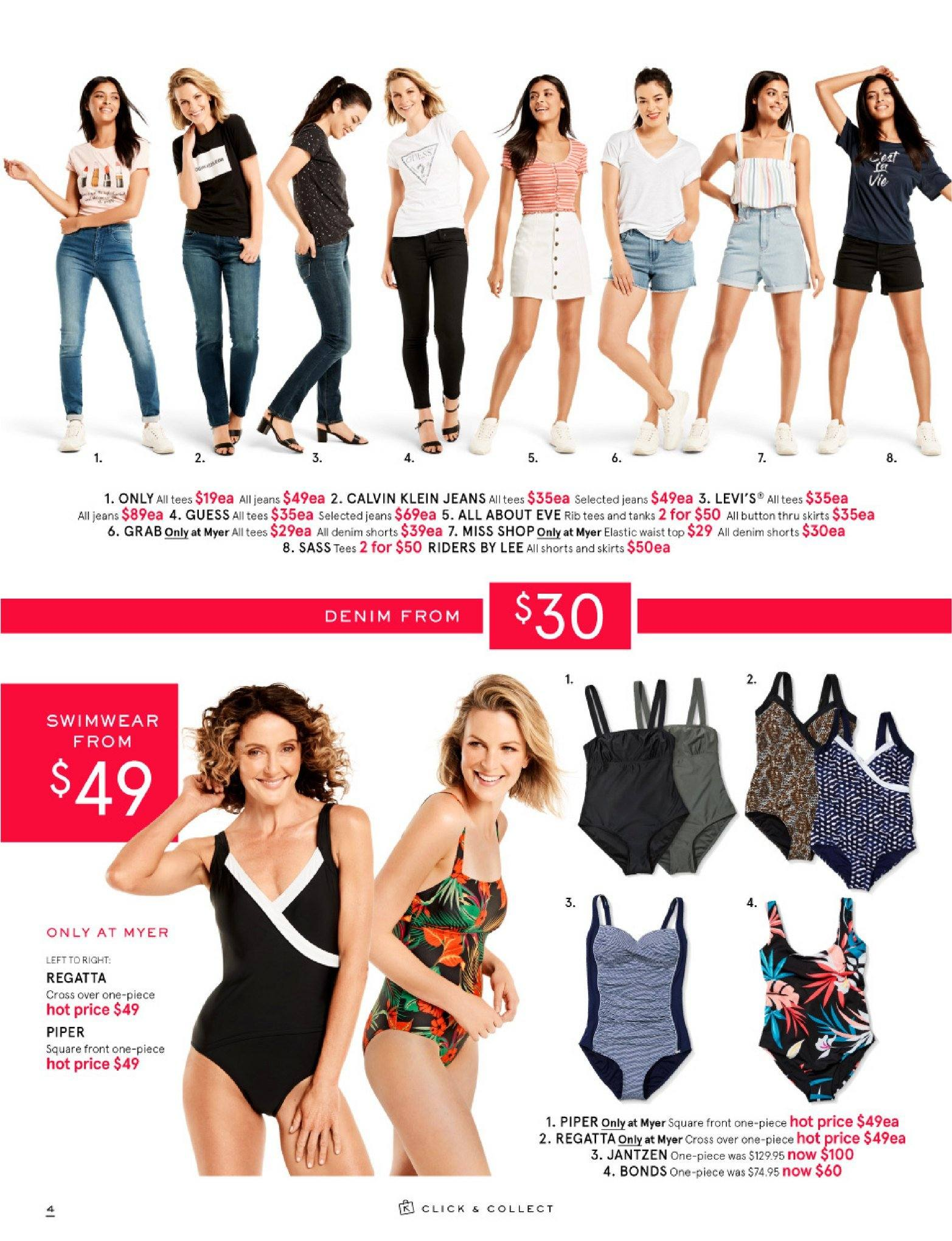 Myer catalogue  - 26.12.2018 - 28.1.2019. Page 4.