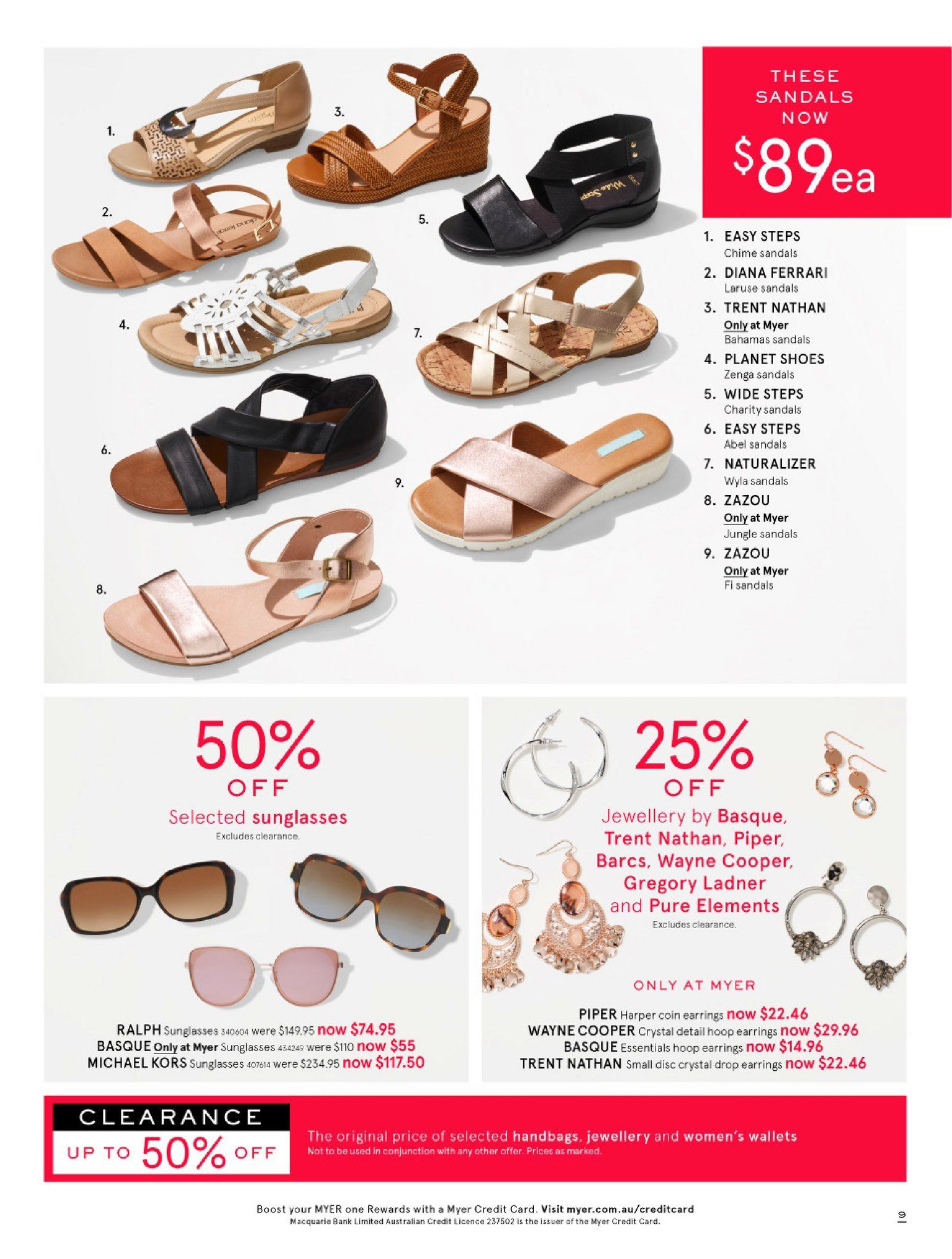 Myer catalogue  - 26.12.2018 - 28.1.2019. Page 9.