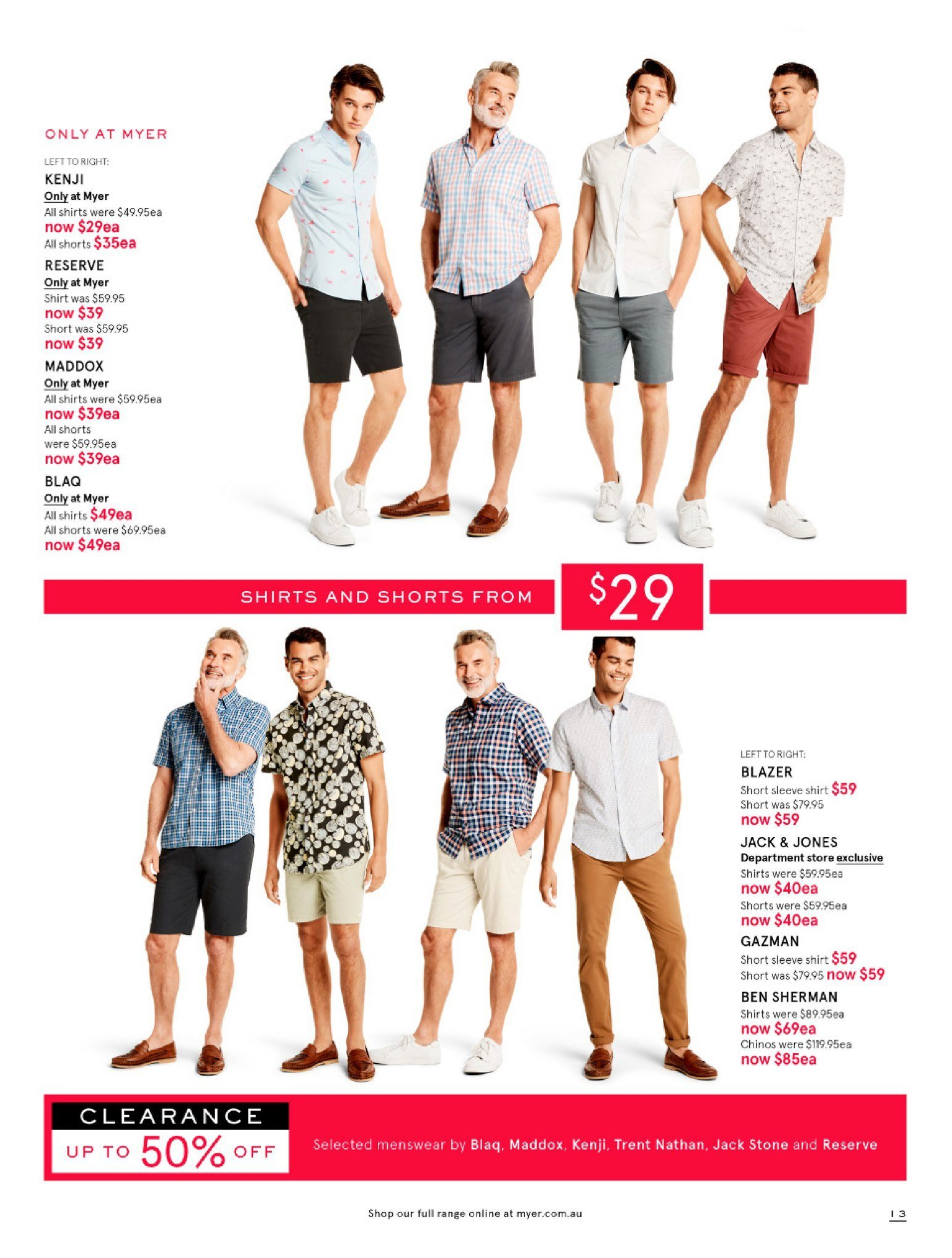 Myer catalogue  - 26.12.2018 - 28.1.2019. Page 13.