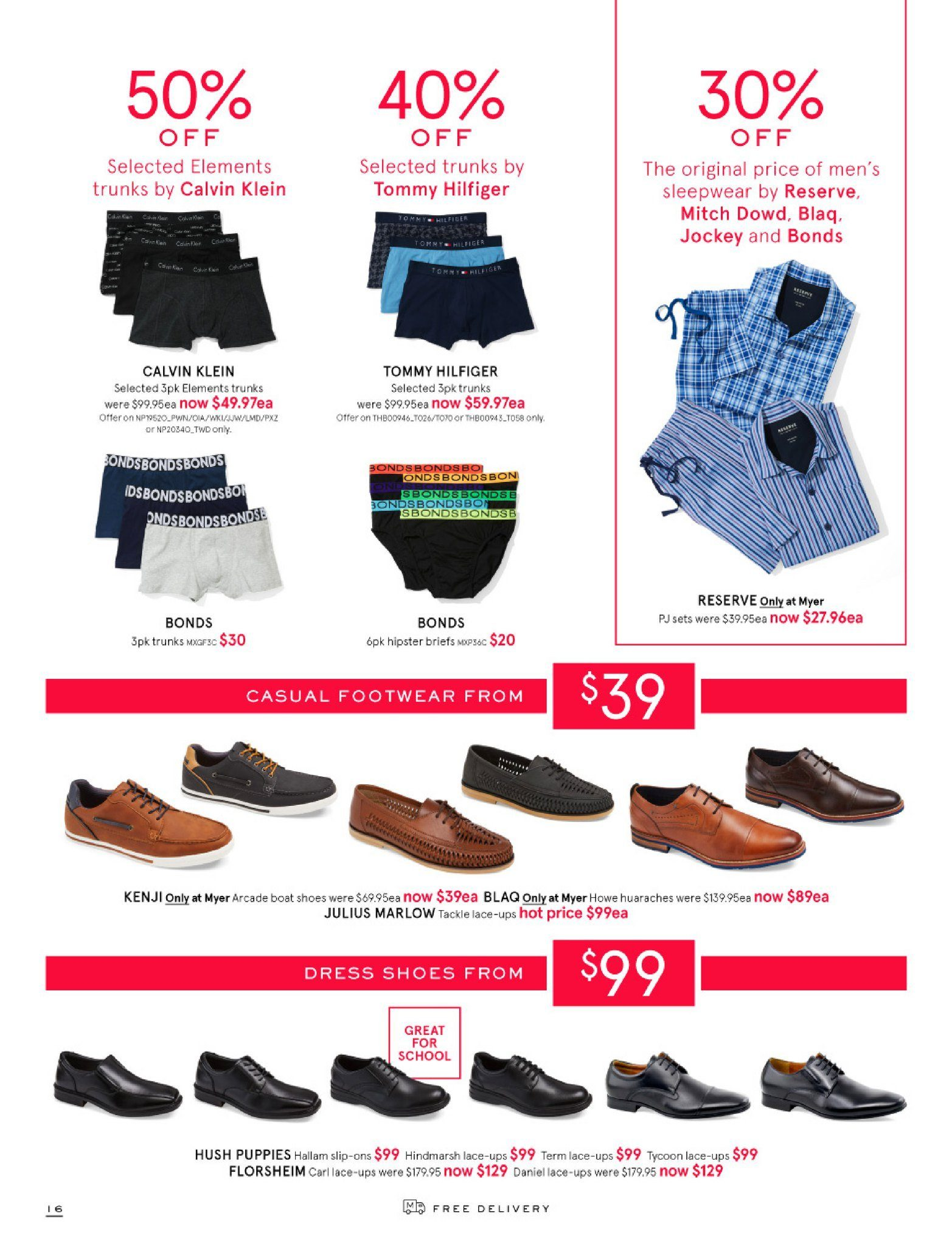 Myer catalogue  - 26.12.2018 - 28.1.2019. Page 16.