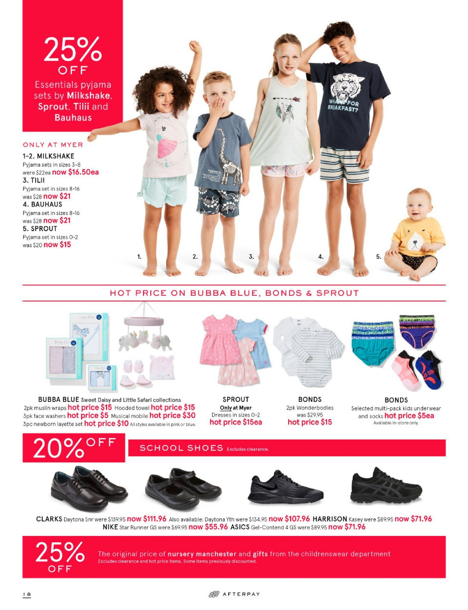 Myer catalogue  - 26.12.2018 - 28.1.2019. Page 18.