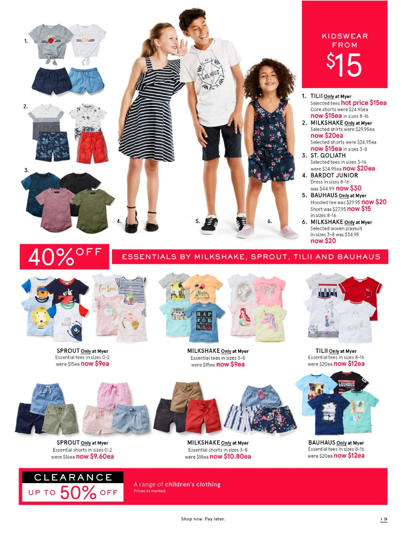 Myer catalogue  - 26.12.2018 - 28.1.2019. Page 19.