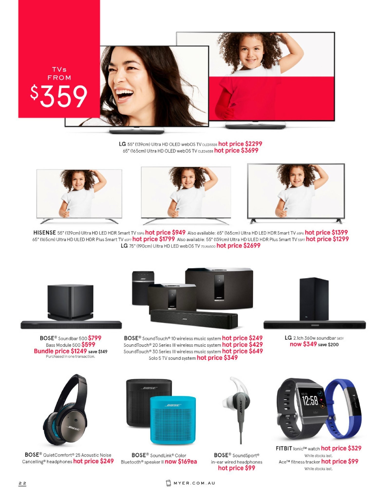 Myer catalogue  - 26.12.2018 - 28.1.2019. Page 22.