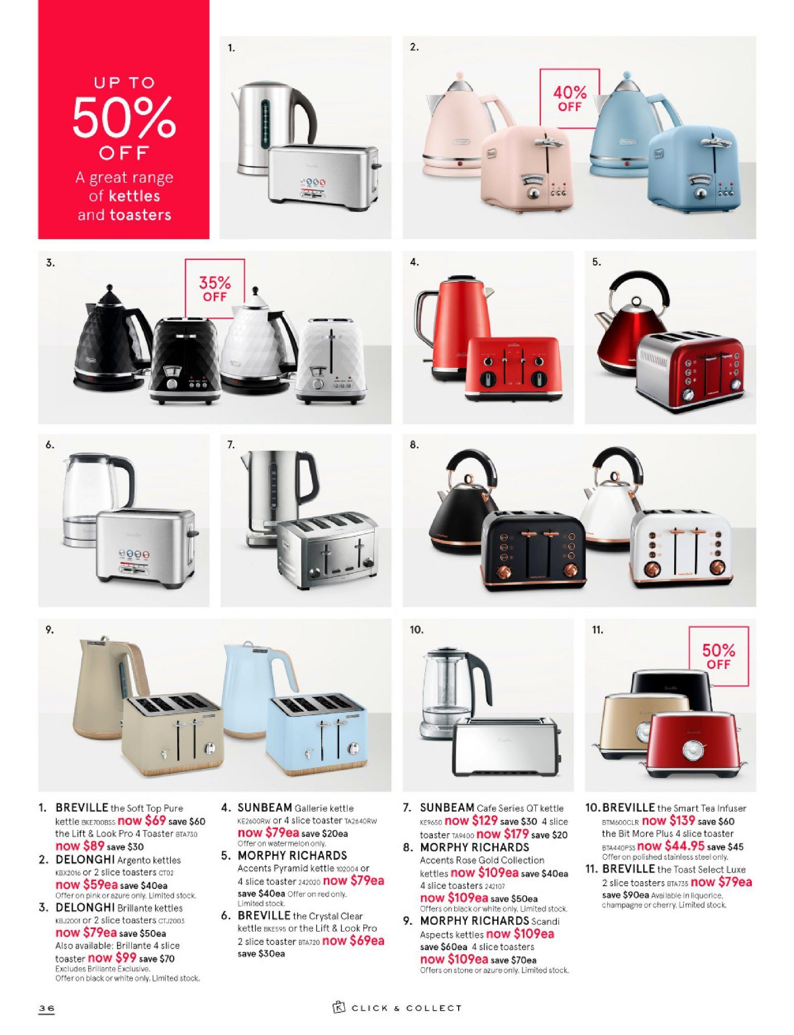 Myer catalogue  - 26.12.2018 - 28.1.2019. Page 36.