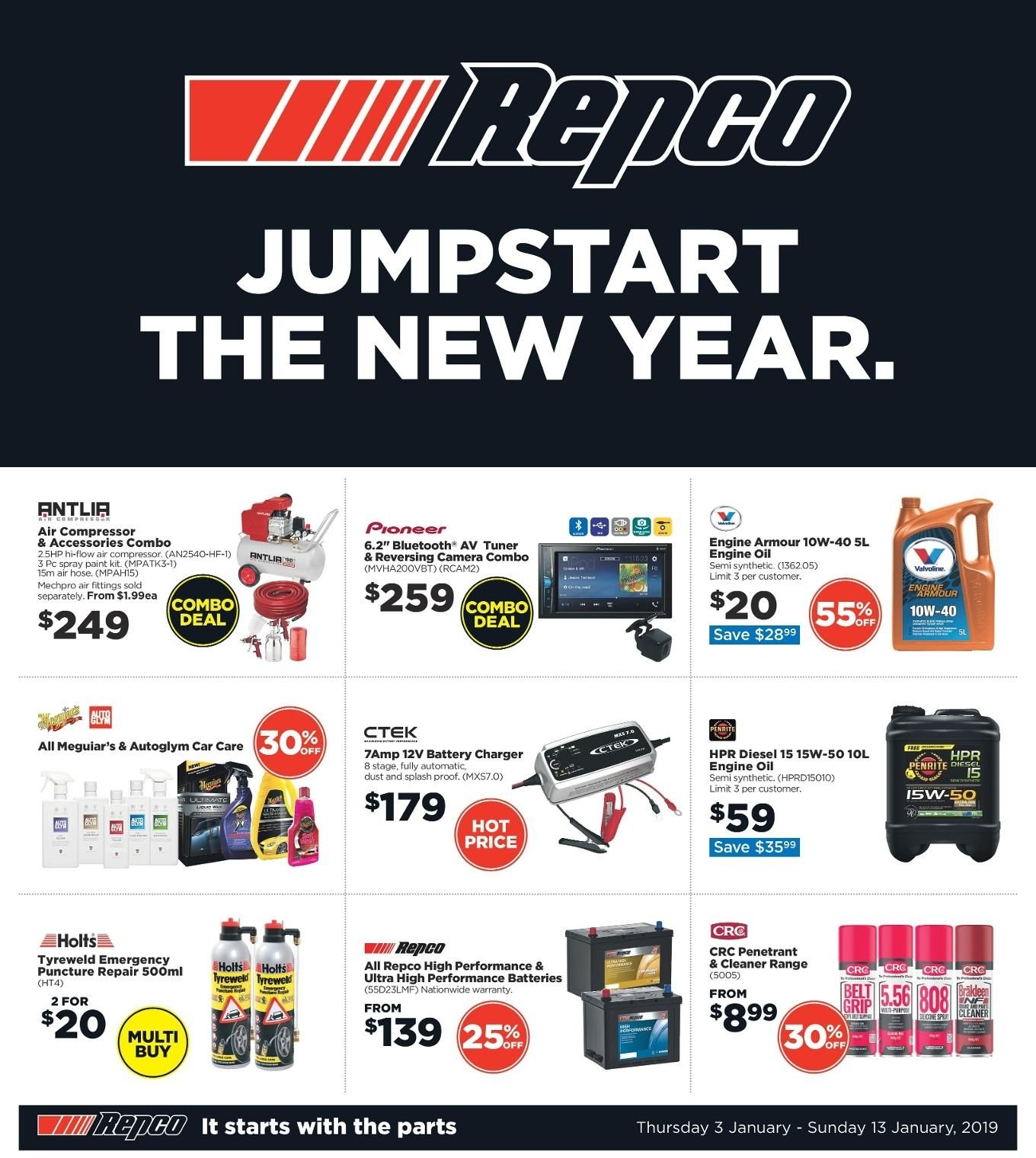 Repco catalogue  - 3.1.2019 - 13.1.2019. Page 1.