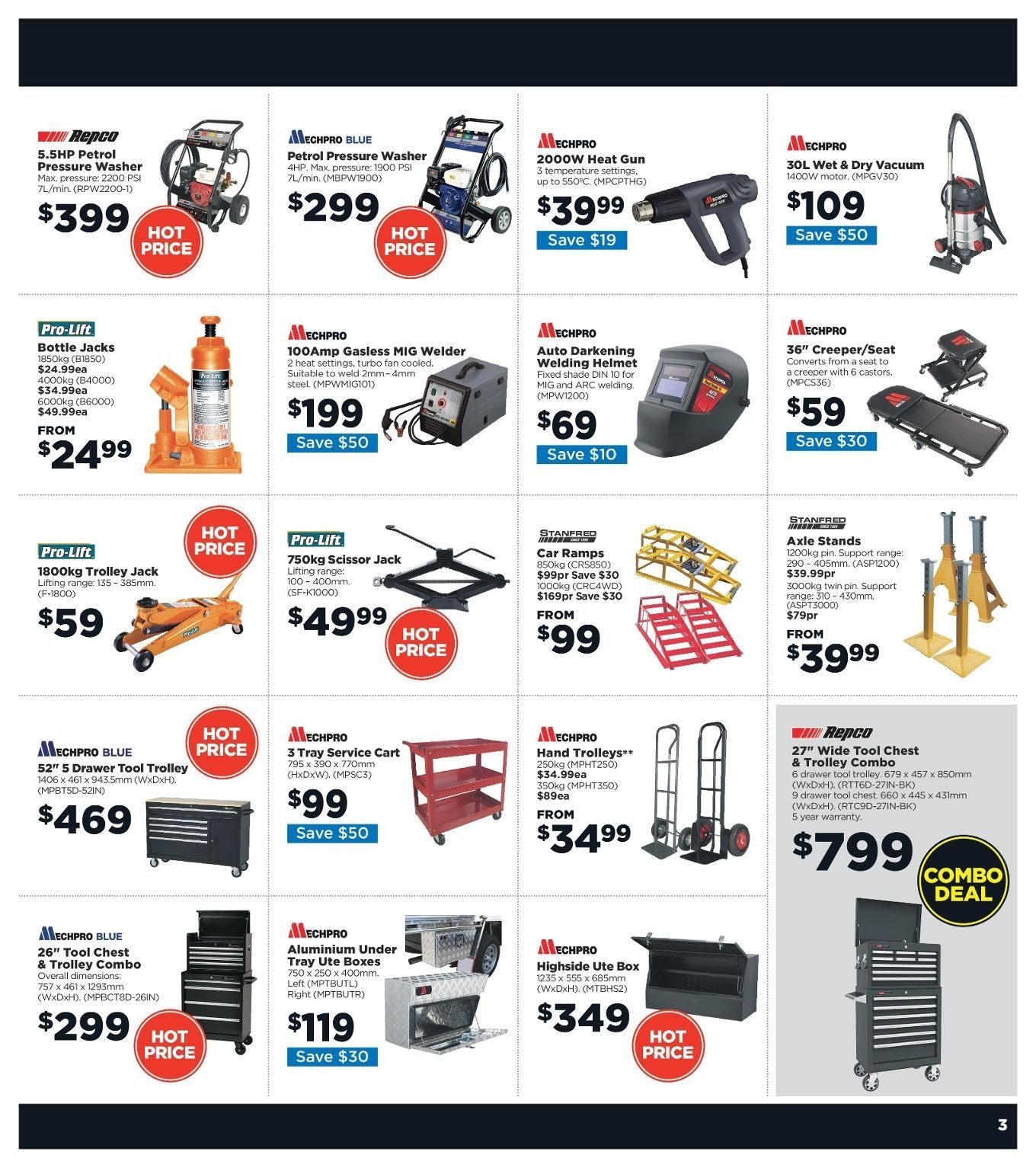 Repco catalogue  - 3.1.2019 - 13.1.2019. Page 3.