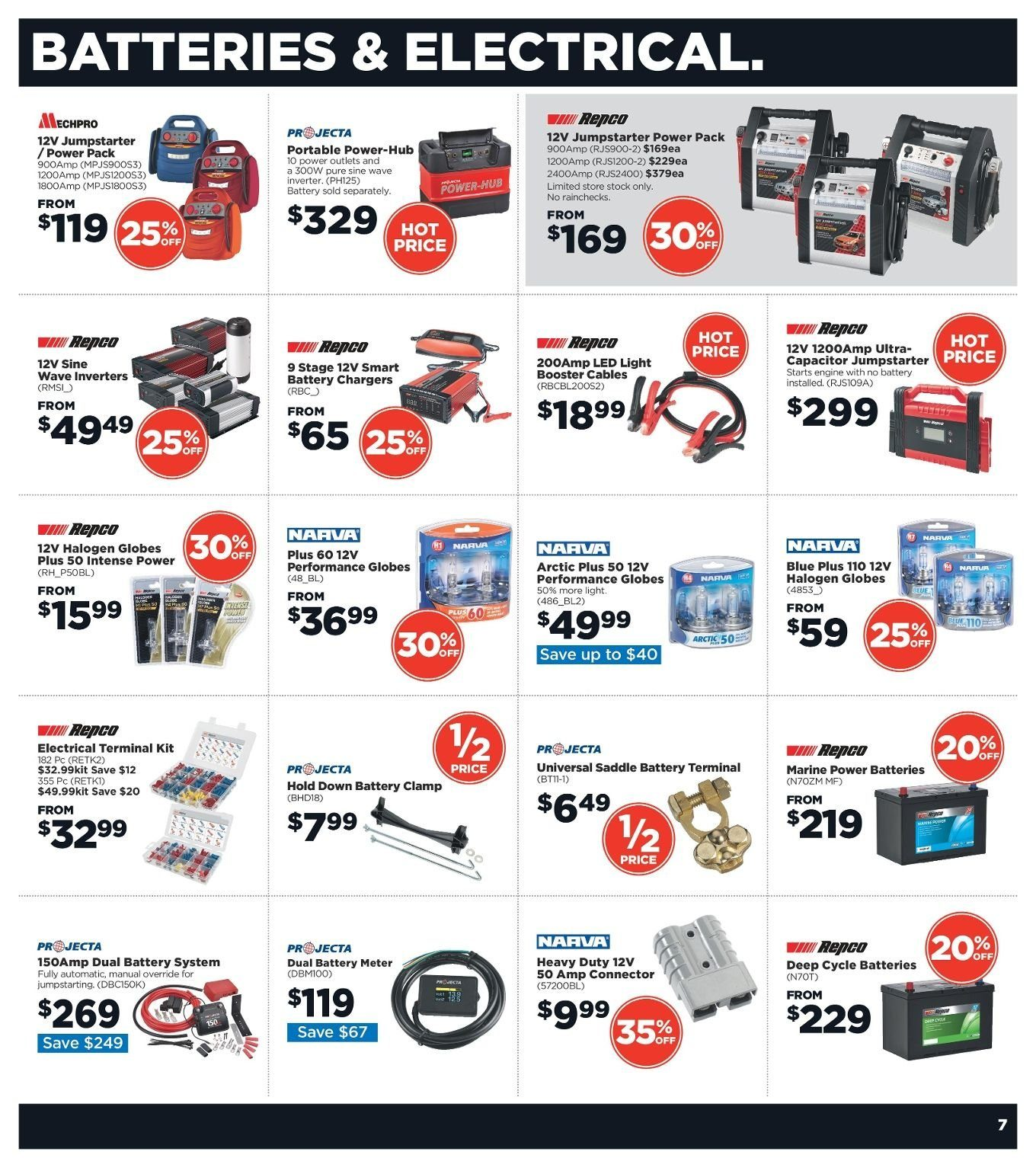 Repco catalogue  - 3.1.2019 - 13.1.2019. Page 7.