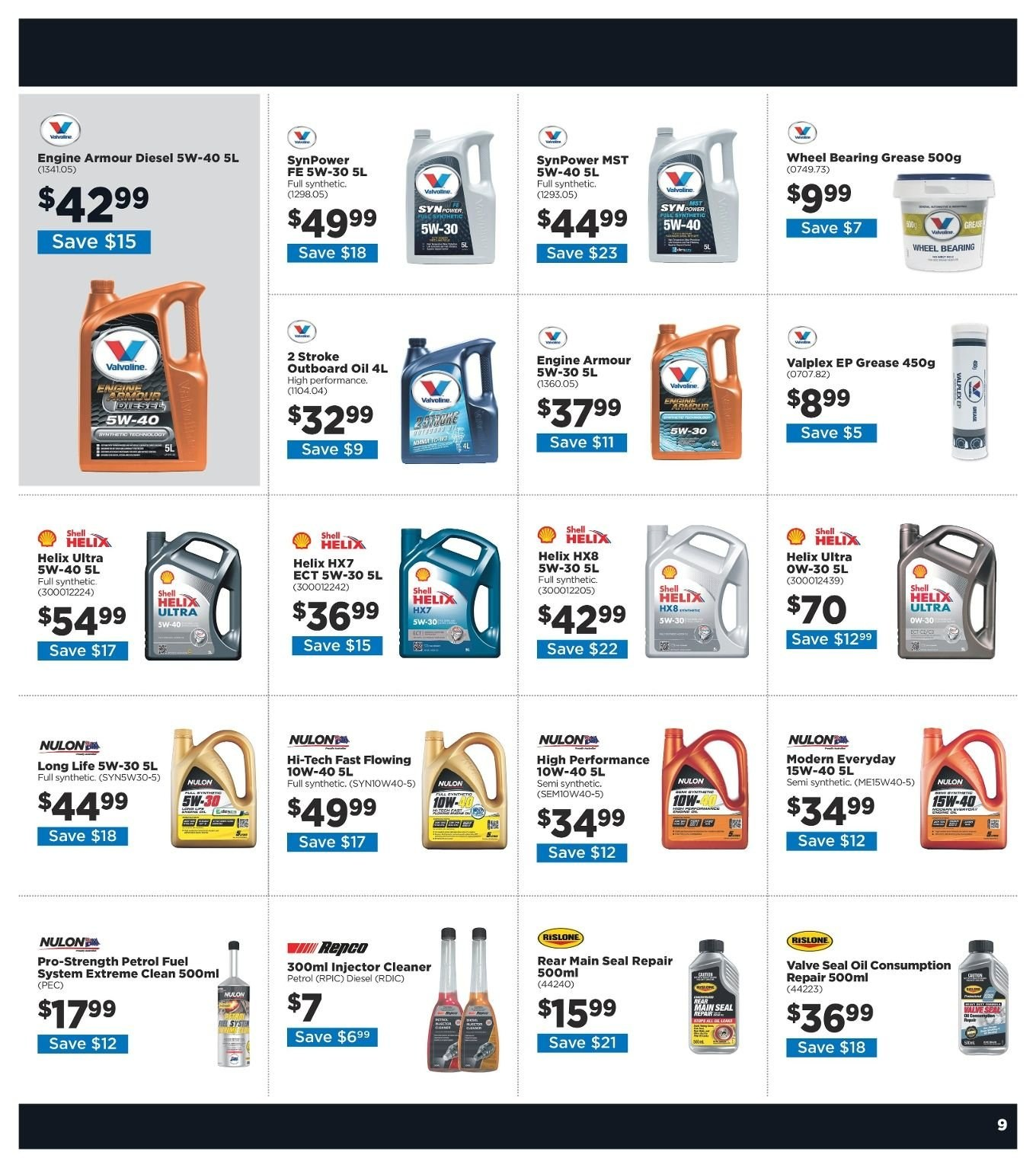 Repco catalogue  - 3.1.2019 - 13.1.2019. Page 9.
