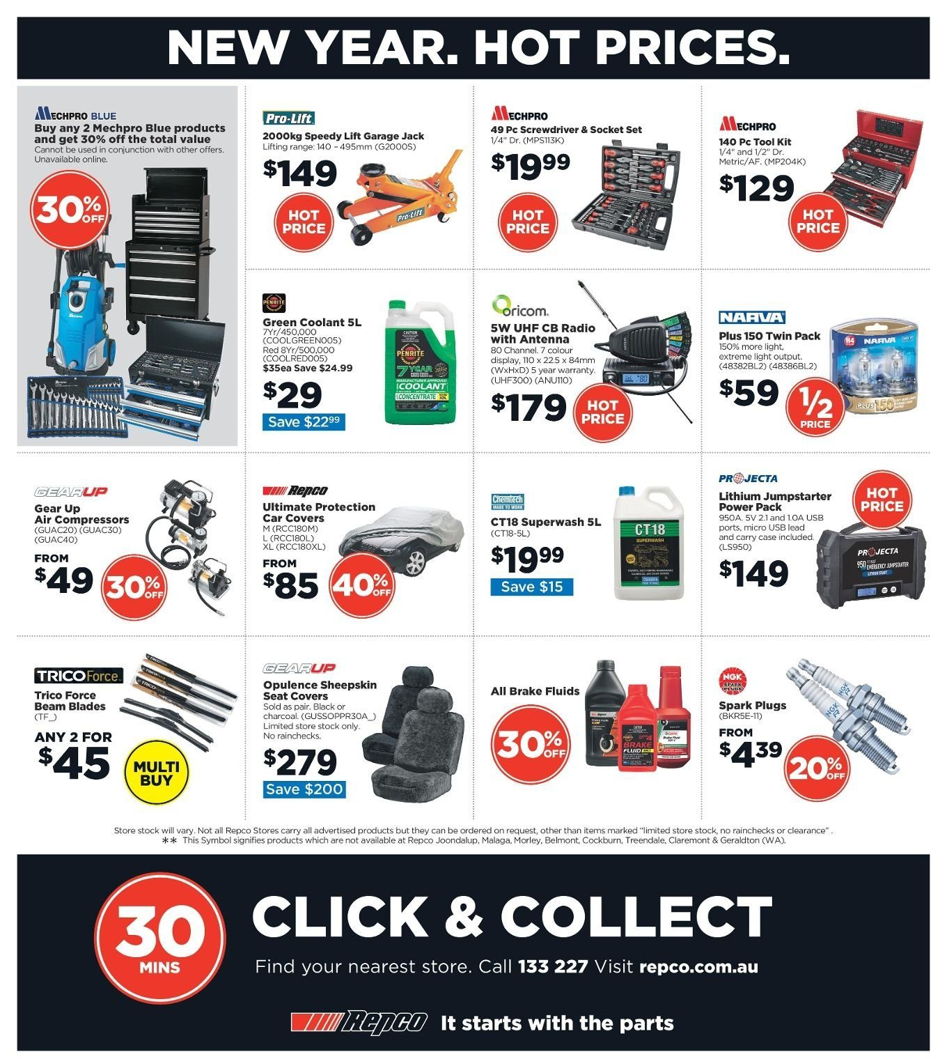 Repco catalogue  - 3.1.2019 - 13.1.2019. Page 16.