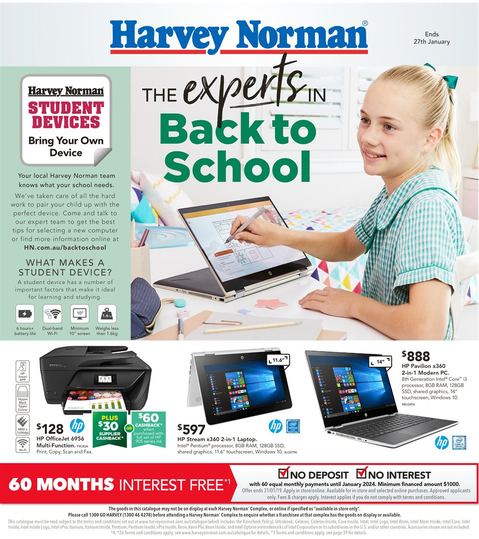Harvey Norman catalogue  - 8.1.2019 - 27.1.2019. Page 1.