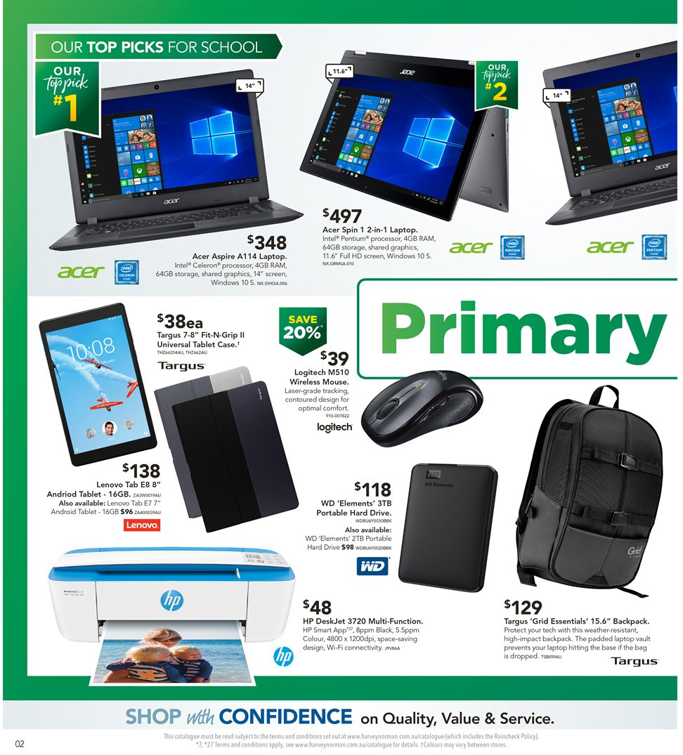 Harvey Norman catalogue  - 8.1.2019 - 27.1.2019. Page 2.