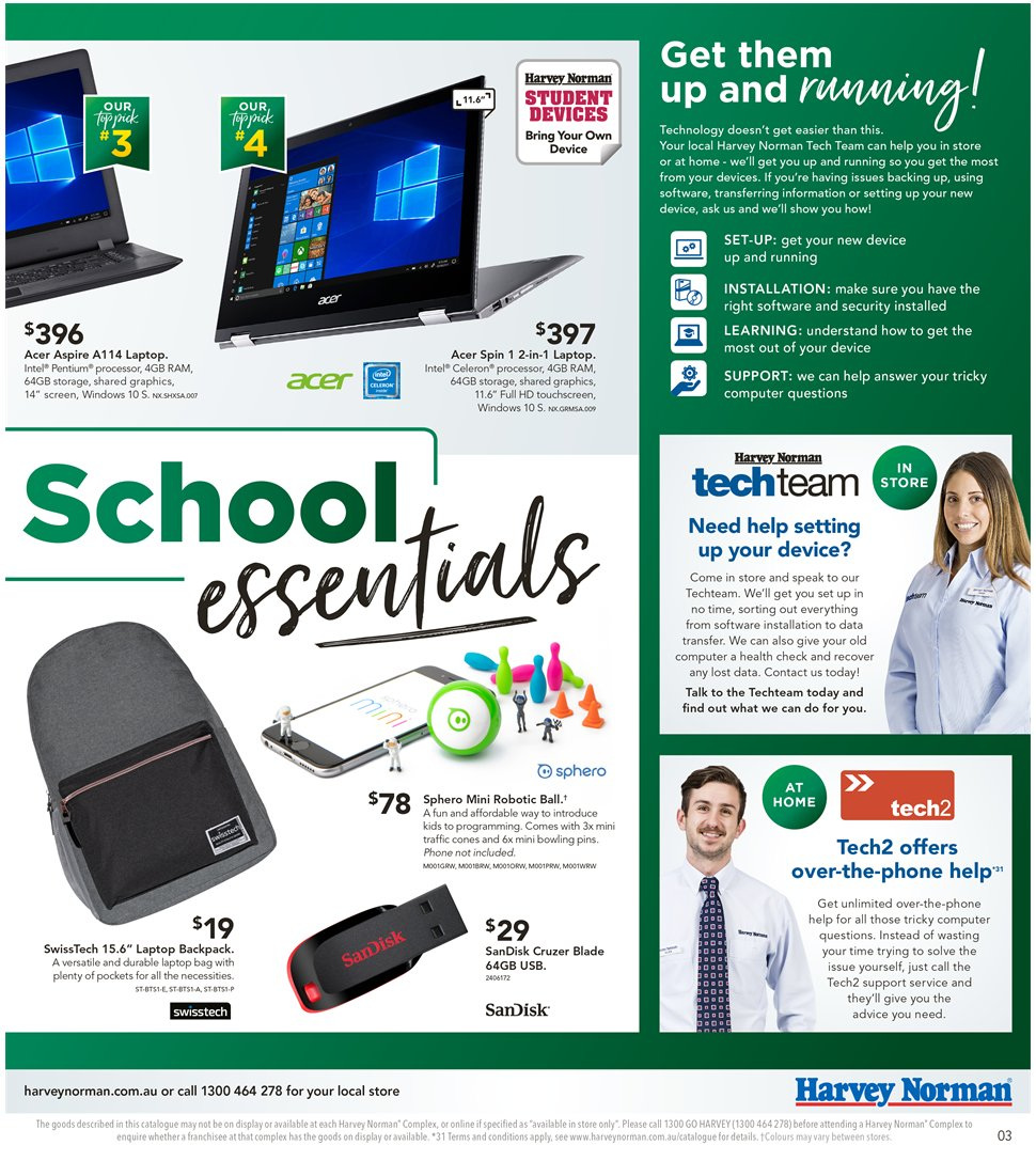 Harvey Norman catalogue  - 8.1.2019 - 27.1.2019. Page 3.