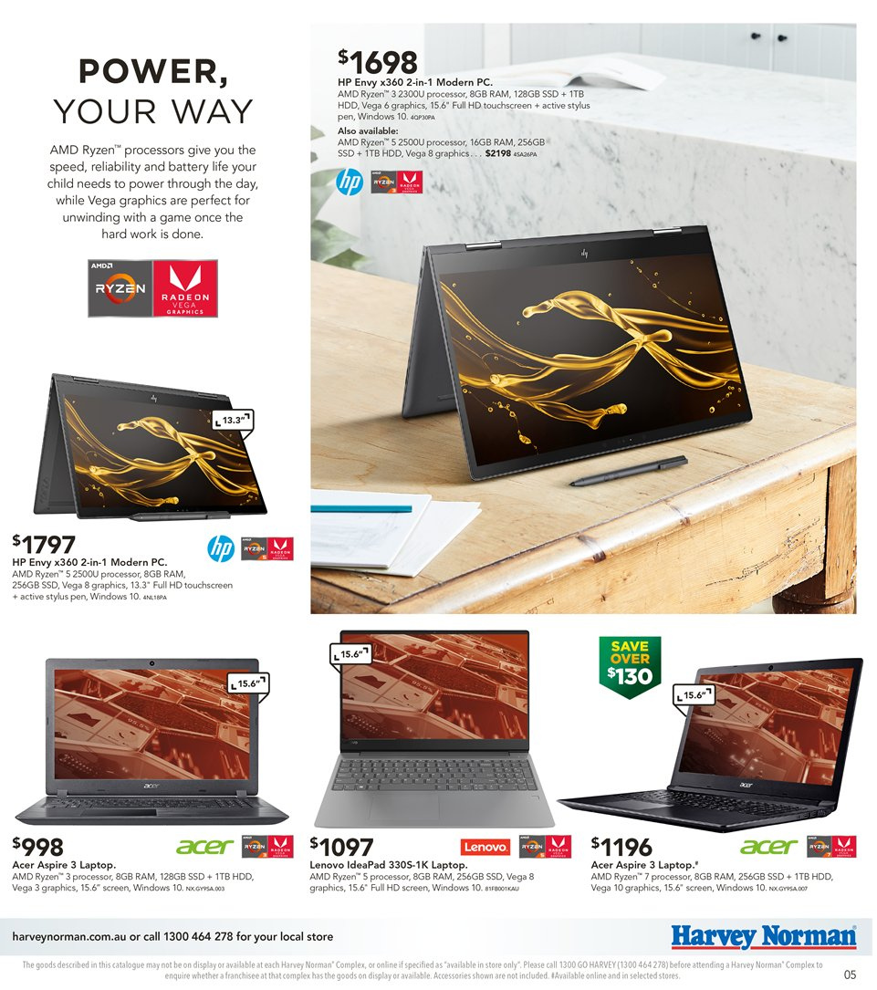 Harvey Norman catalogue  - 8.1.2019 - 27.1.2019. Page 5.