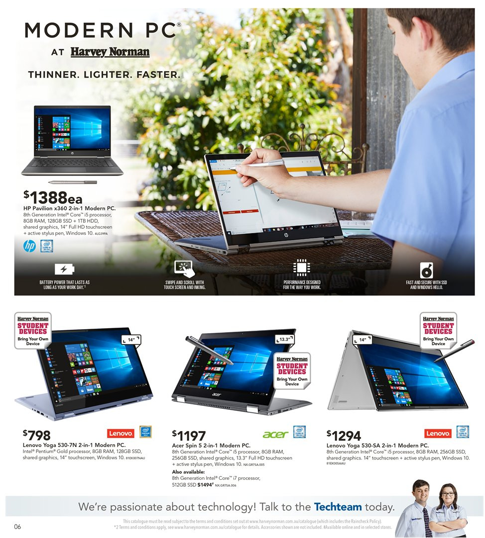 Harvey Norman catalogue  - 8.1.2019 - 27.1.2019. Page 6.
