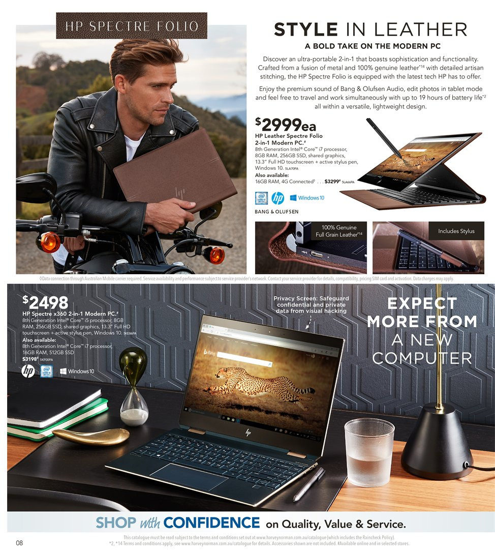 Harvey Norman catalogue  - 8.1.2019 - 27.1.2019. Page 8.