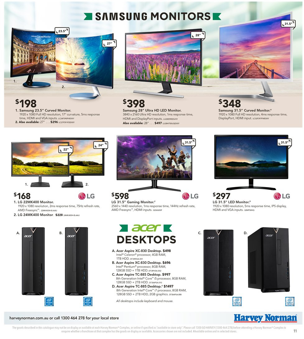 Harvey Norman catalogue  - 8.1.2019 - 27.1.2019. Page 11.