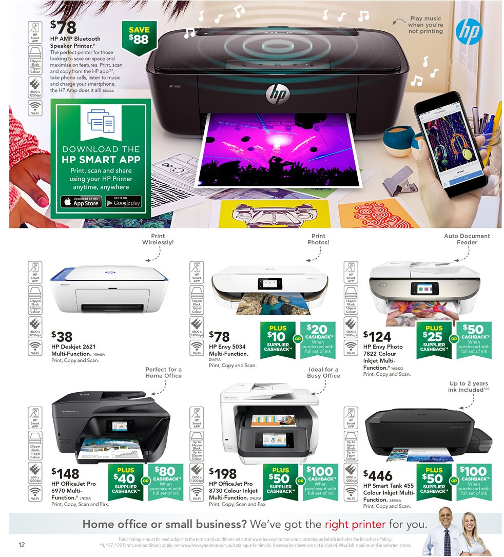 Harvey Norman catalogue  - 8.1.2019 - 27.1.2019. Page 12.