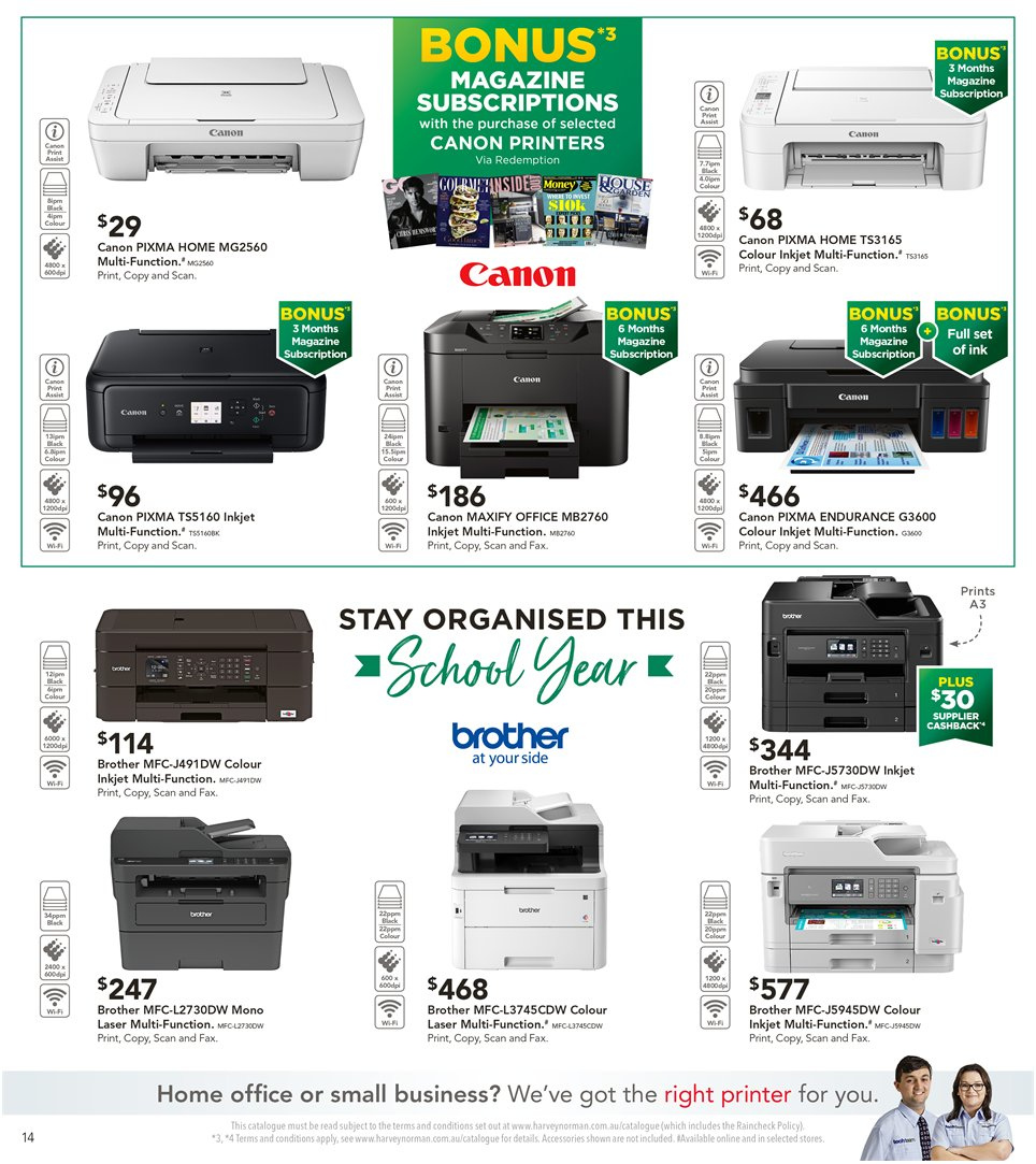 Harvey Norman catalogue  - 8.1.2019 - 27.1.2019. Page 14.