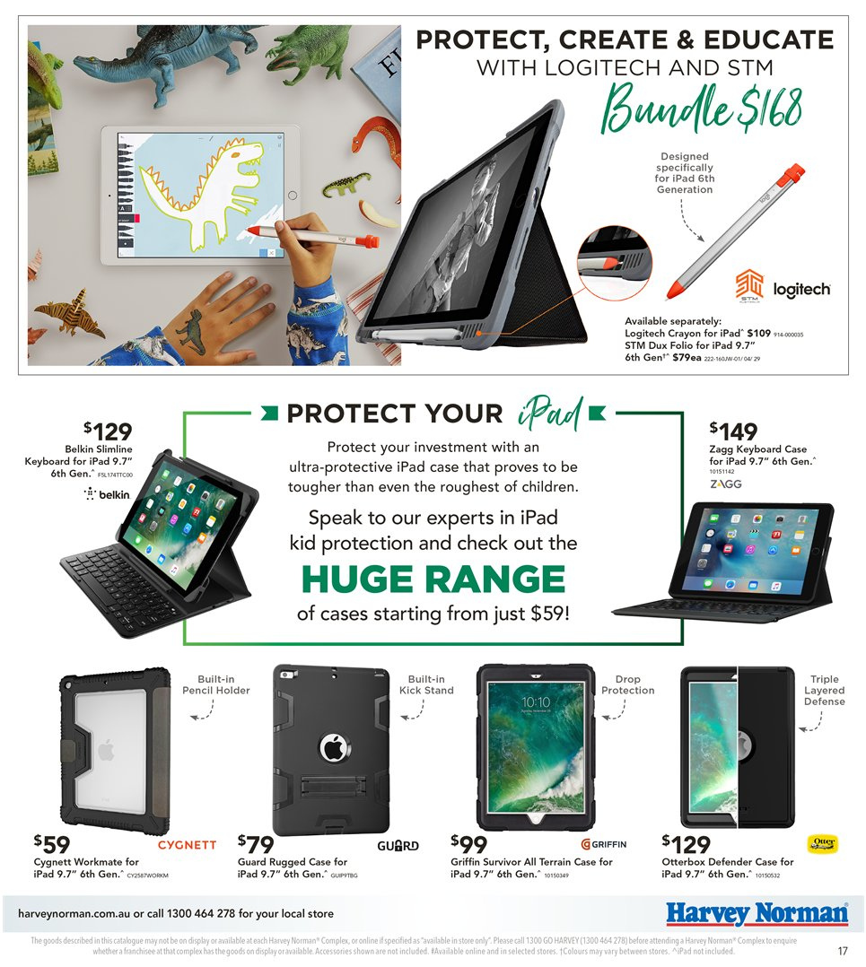 Harvey Norman catalogue  - 8.1.2019 - 27.1.2019. Page 17.