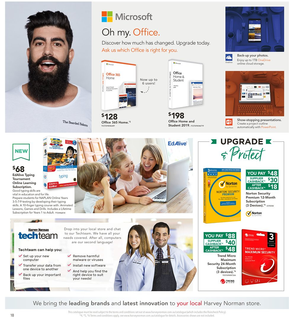 Harvey Norman catalogue  - 8.1.2019 - 27.1.2019. Page 18.
