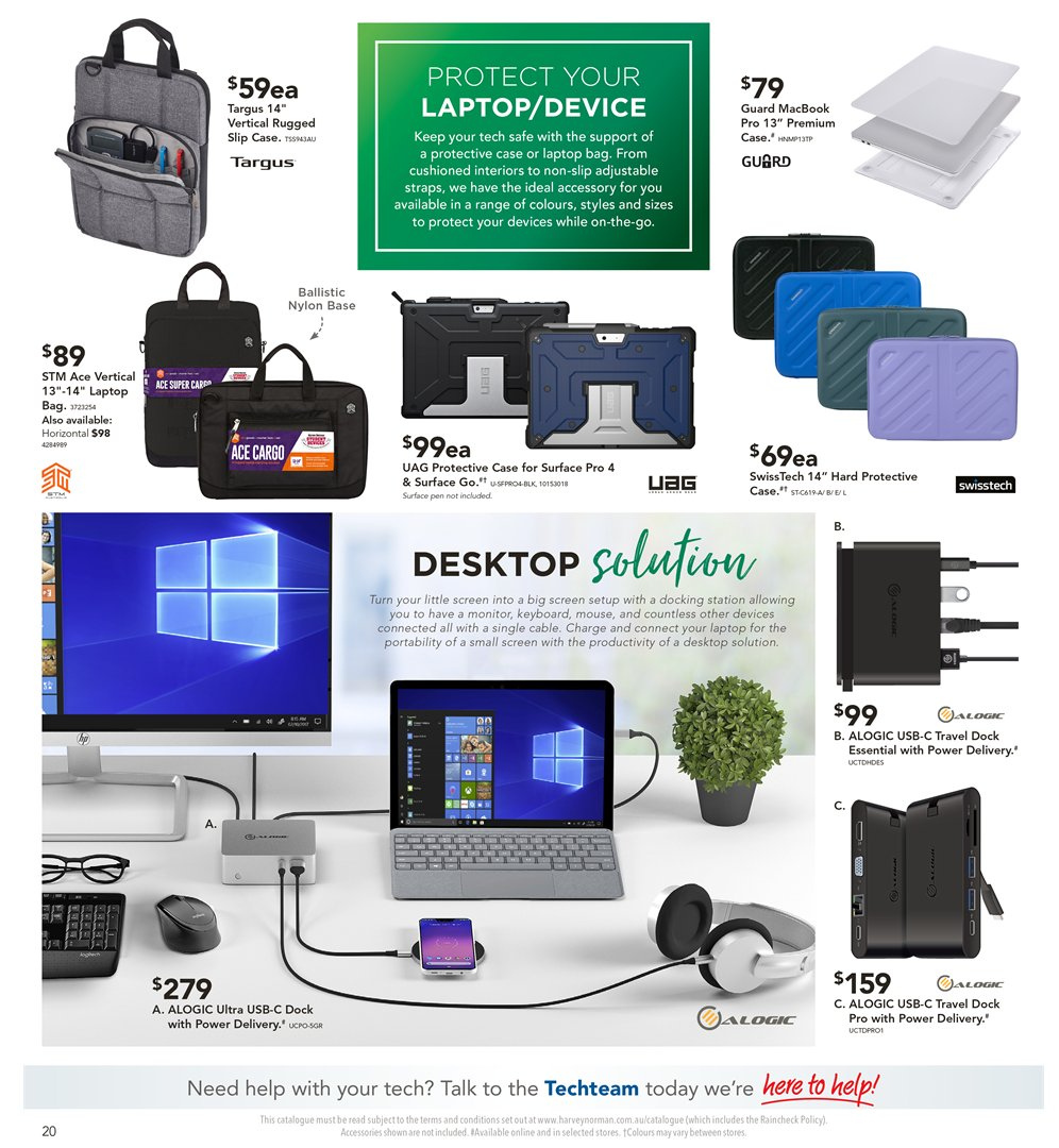 Harvey Norman catalogue  - 8.1.2019 - 27.1.2019. Page 20.