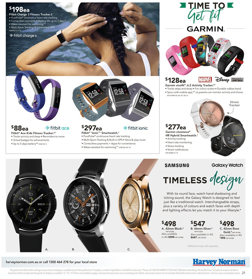 Harvey Norman catalogue  - 8.1.2019 - 27.1.2019. Page 21.