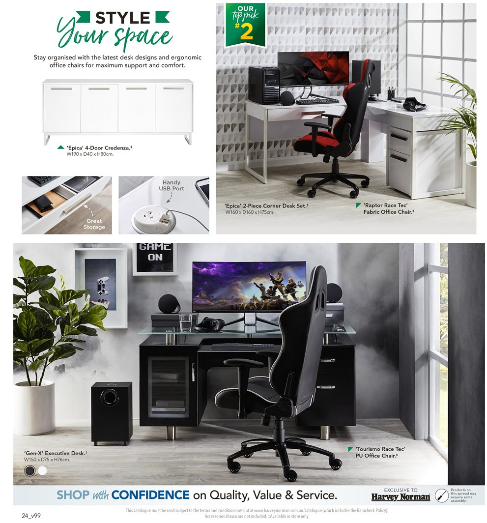Harvey Norman catalogue  - 8.1.2019 - 27.1.2019. Page 24.