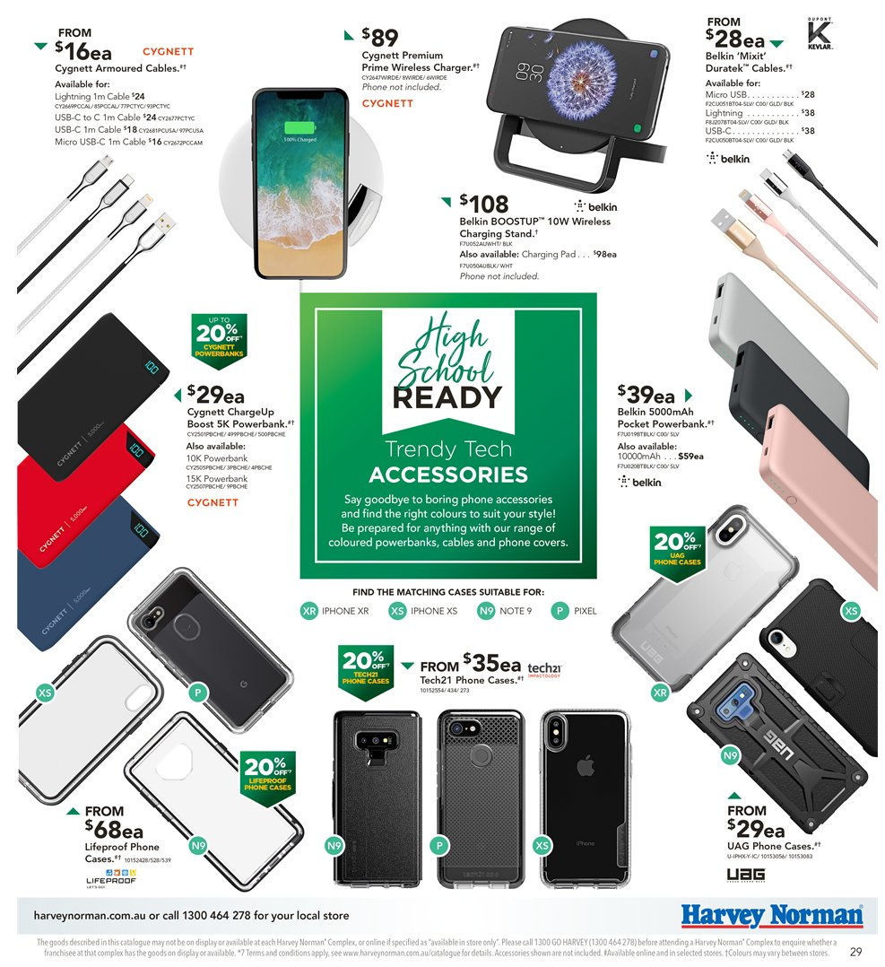 Harvey Norman catalogue  - 8.1.2019 - 27.1.2019. Page 29.