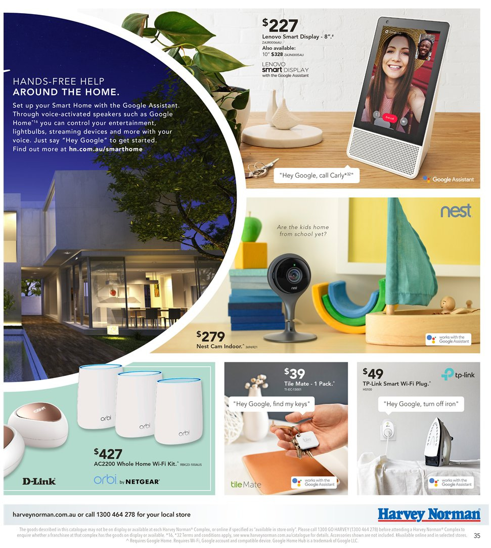 Harvey Norman catalogue  - 8.1.2019 - 27.1.2019. Page 35.