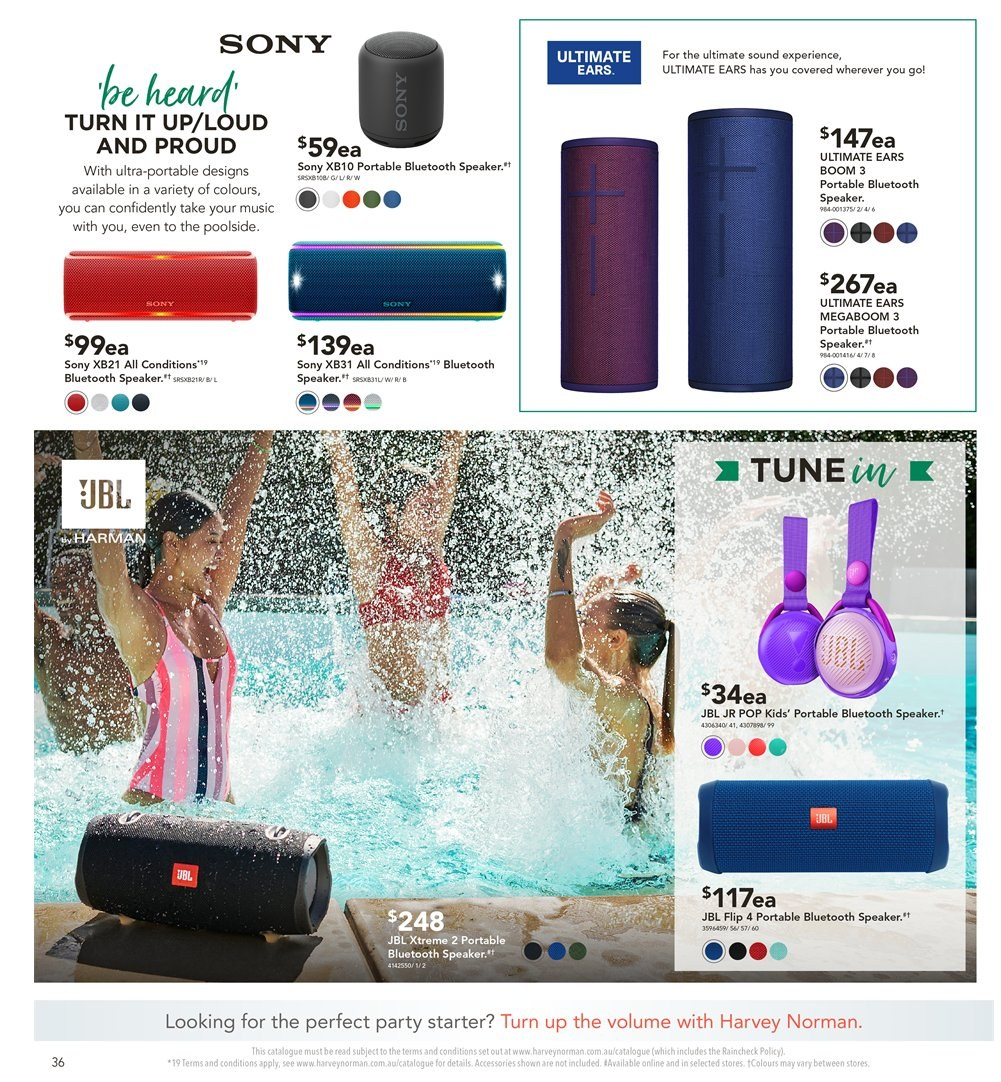 Harvey Norman catalogue  - 8.1.2019 - 27.1.2019. Page 36.